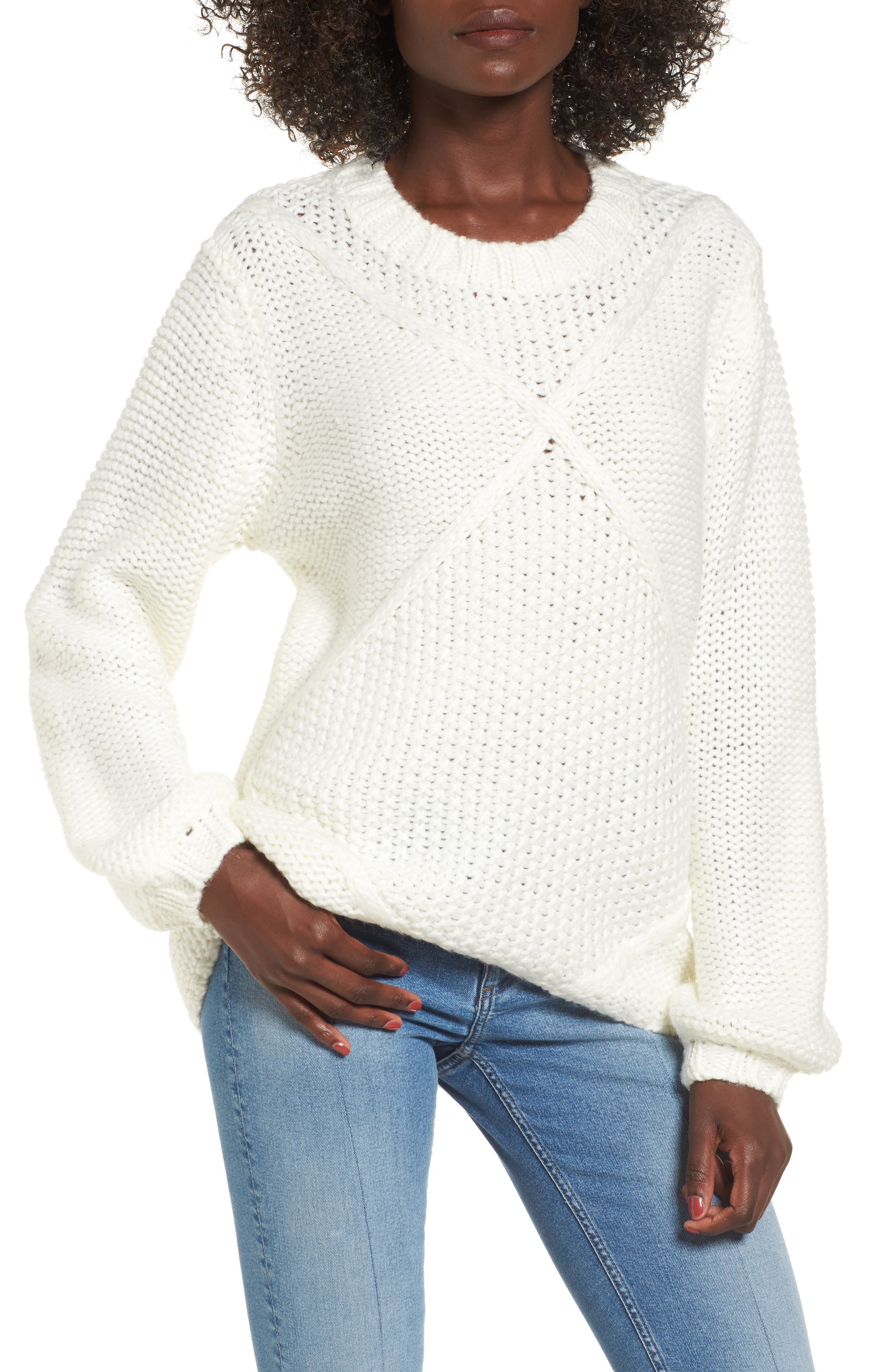 Making Melody Sweater,                         Main,                         color, Off White/ Cream