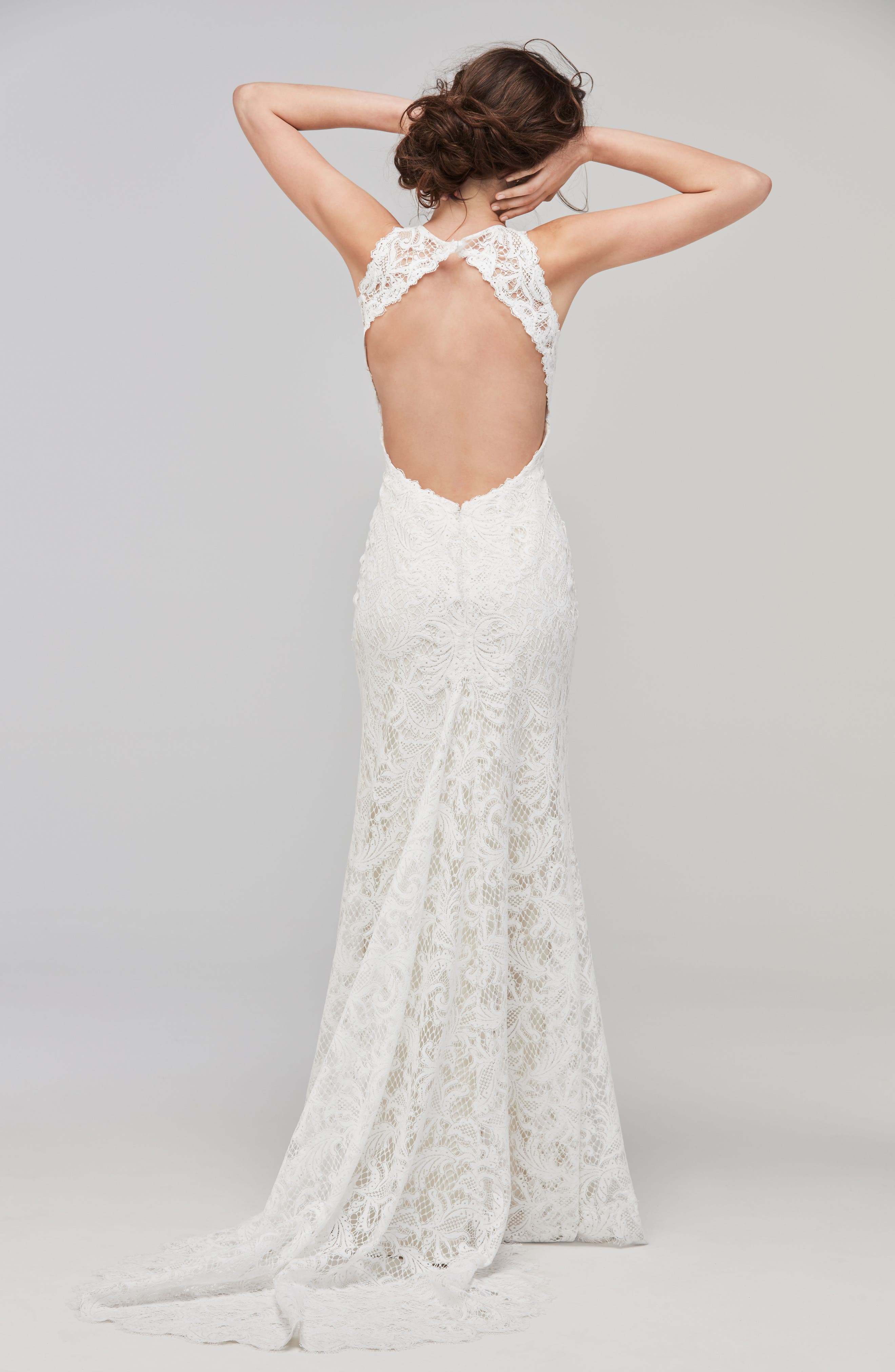 Alternate Image 2  - Willowby Adia Sleeveless Lace A-Line Gown