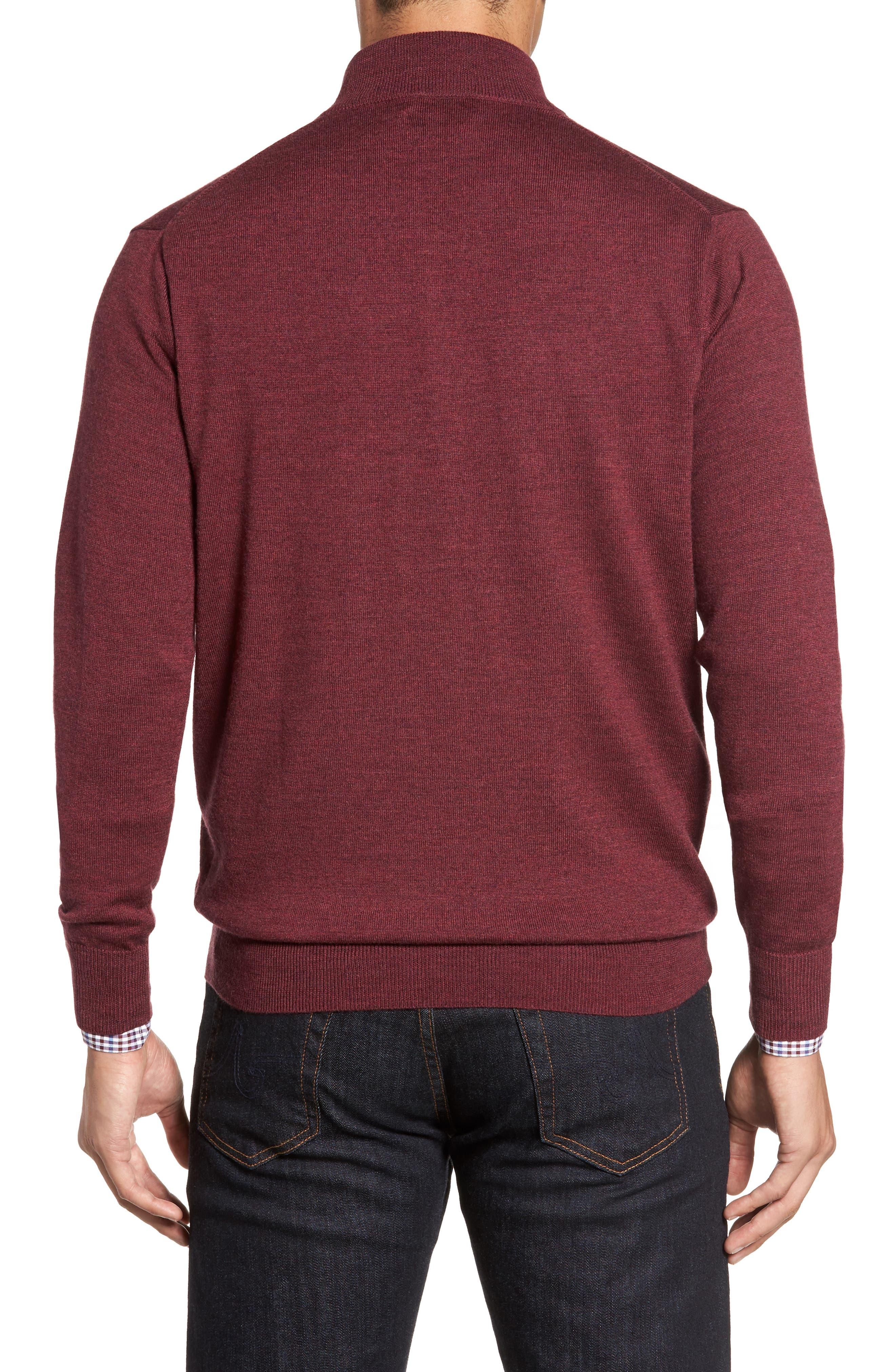 Alternate Image 2  - Peter Millar Crown Soft Merino Blend Quarter Zip Sweater