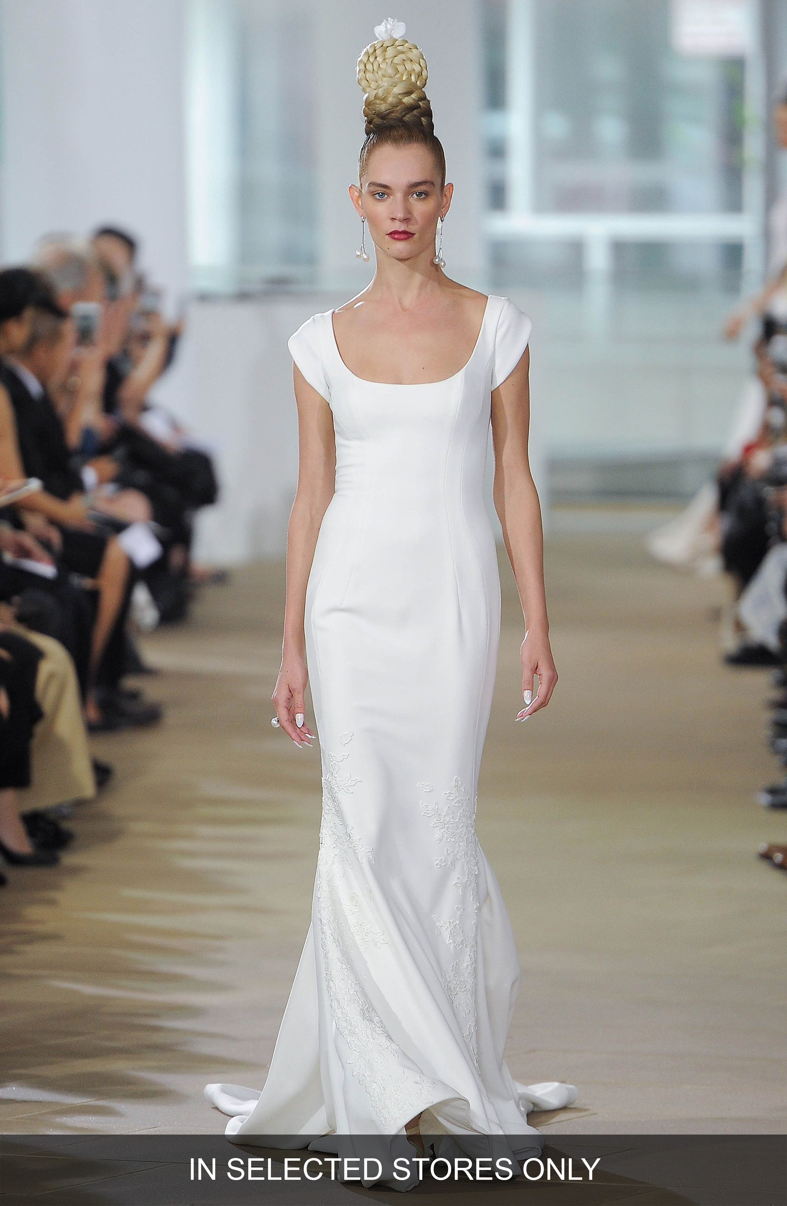 Ines Di Santo Carter Sculpted Silk Column Gown
