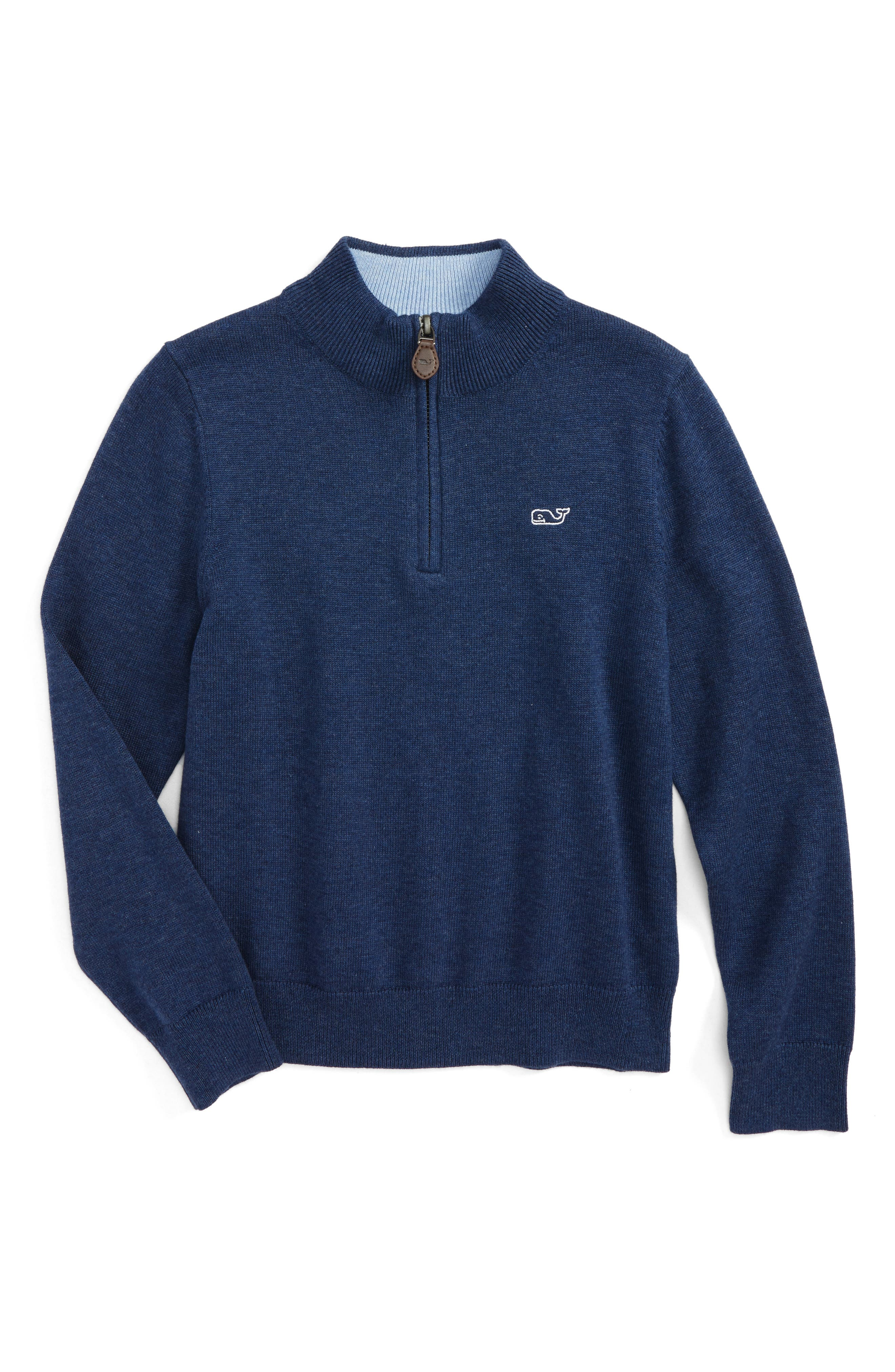 Main Image - vineyard vines Classic Quarter Zip Sweater (Toddler Boys, Little Boys & Big Boys)