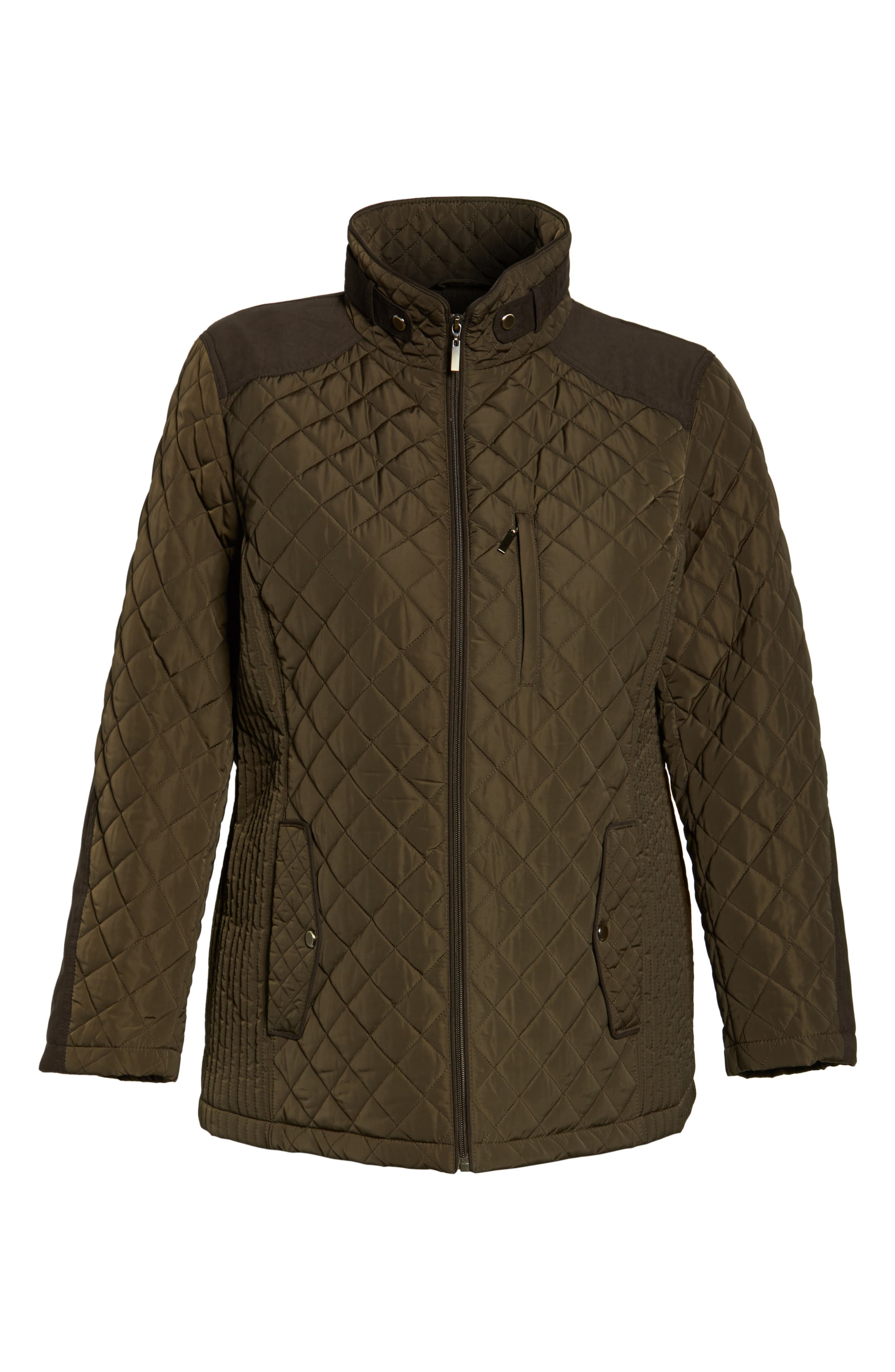 Alternate Image 6  - Gallery Insulated Jacket (Plus Size)