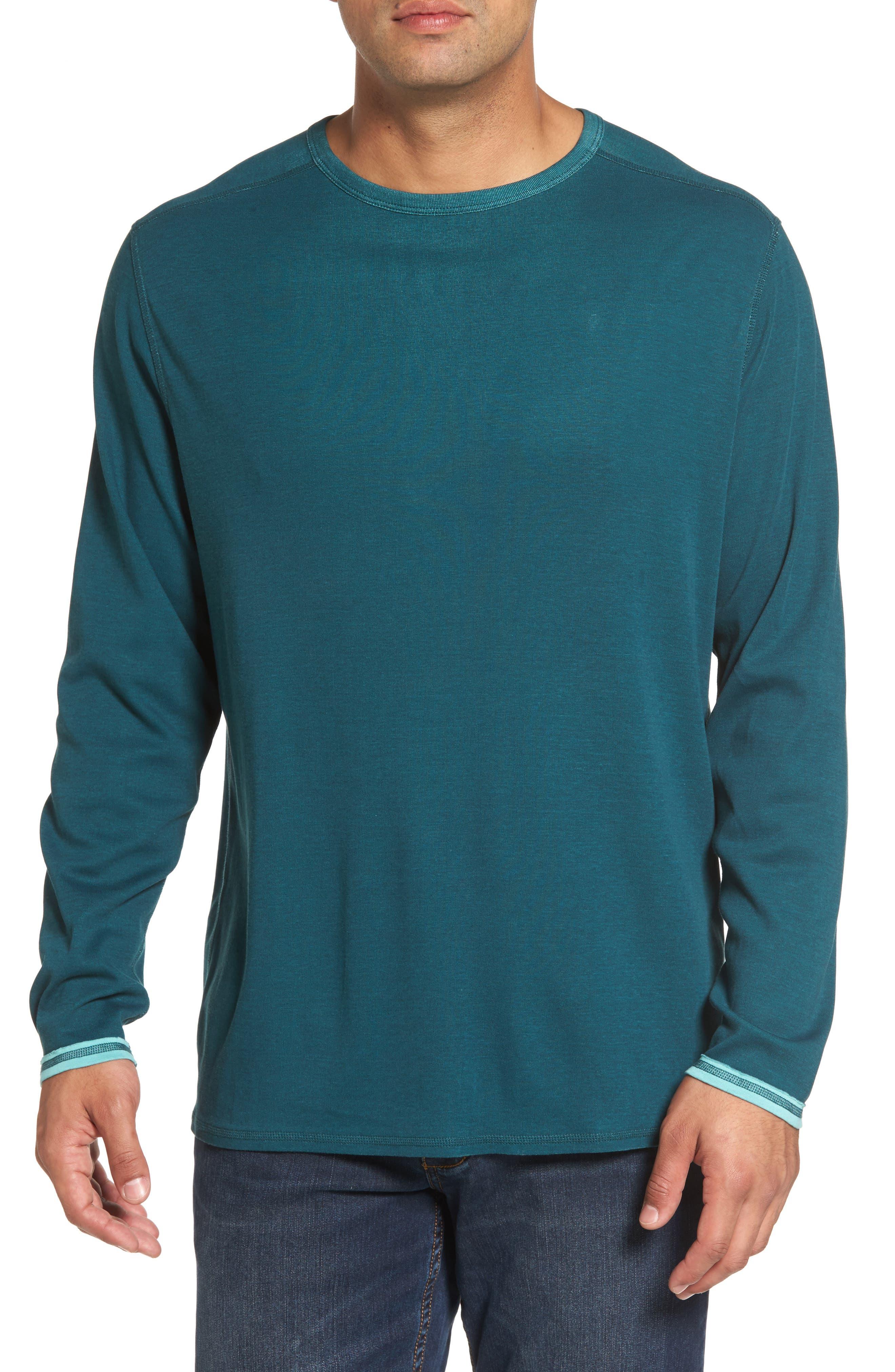 Dual in the Sun Reversible T-Shirt,                         Main,                         color, Seaway