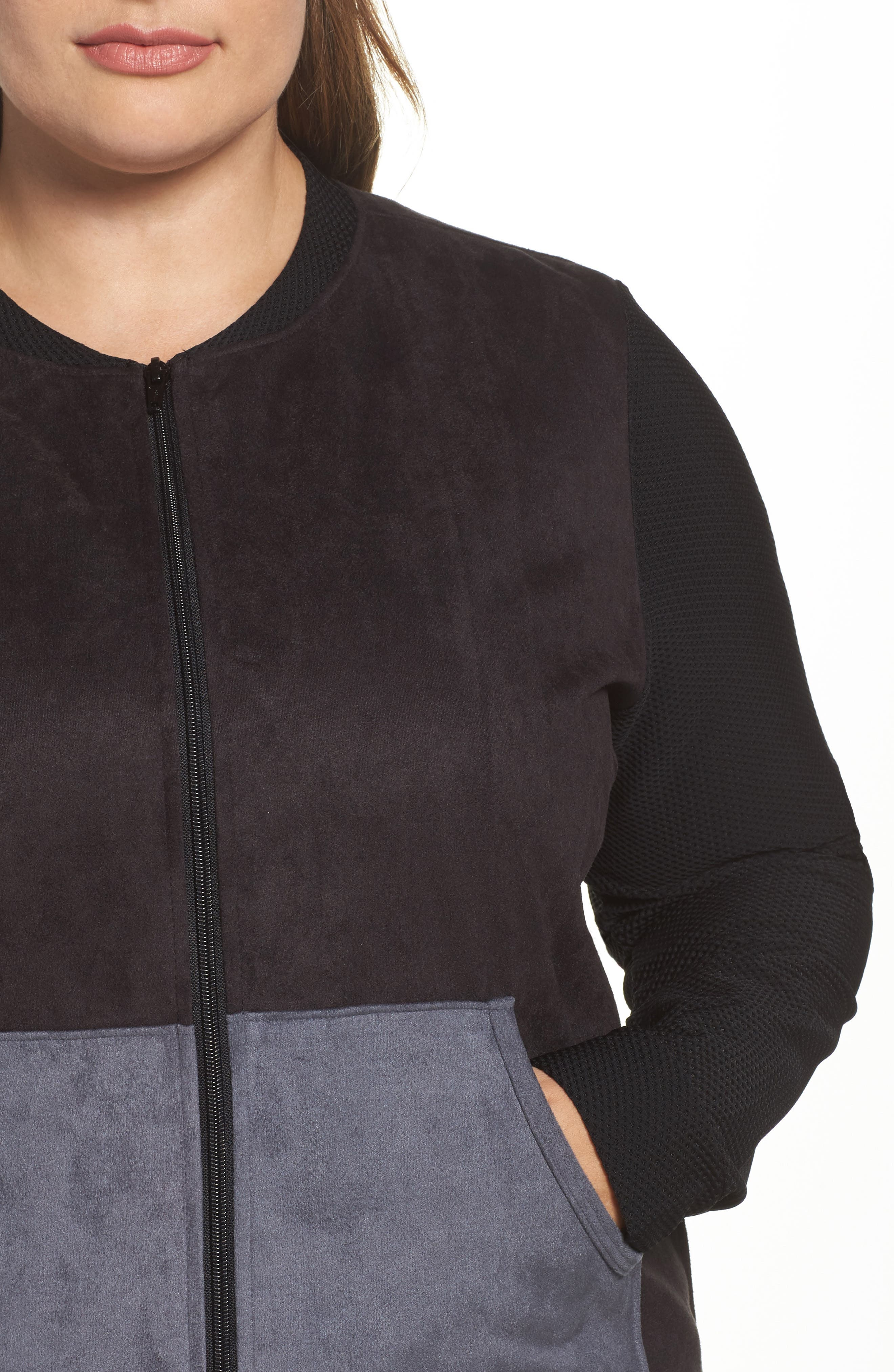 Track Jacket,                             Alternate thumbnail 5, color,                             Black/ Charcoal