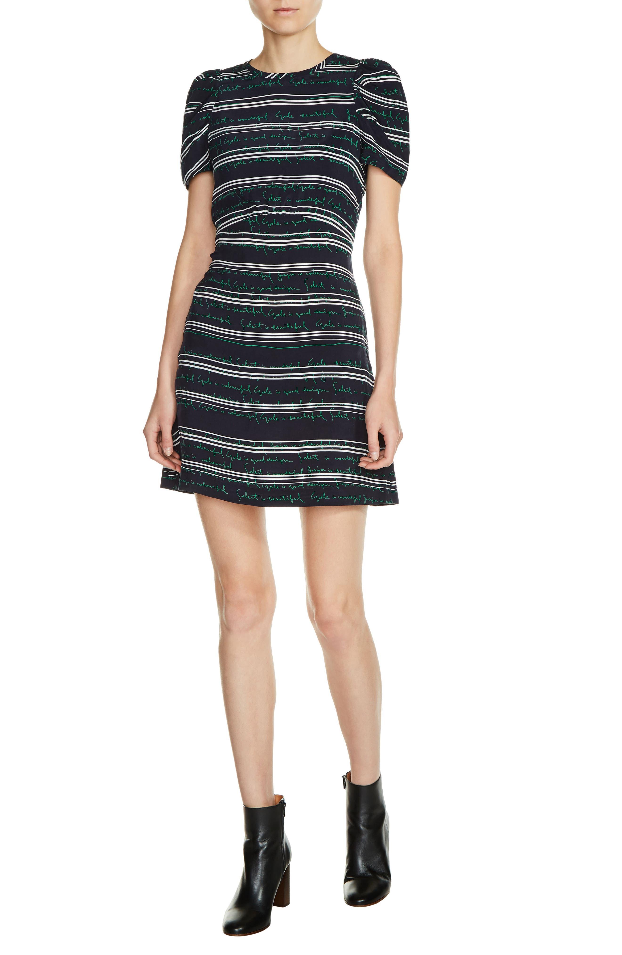maje Stripe A-Line Dress