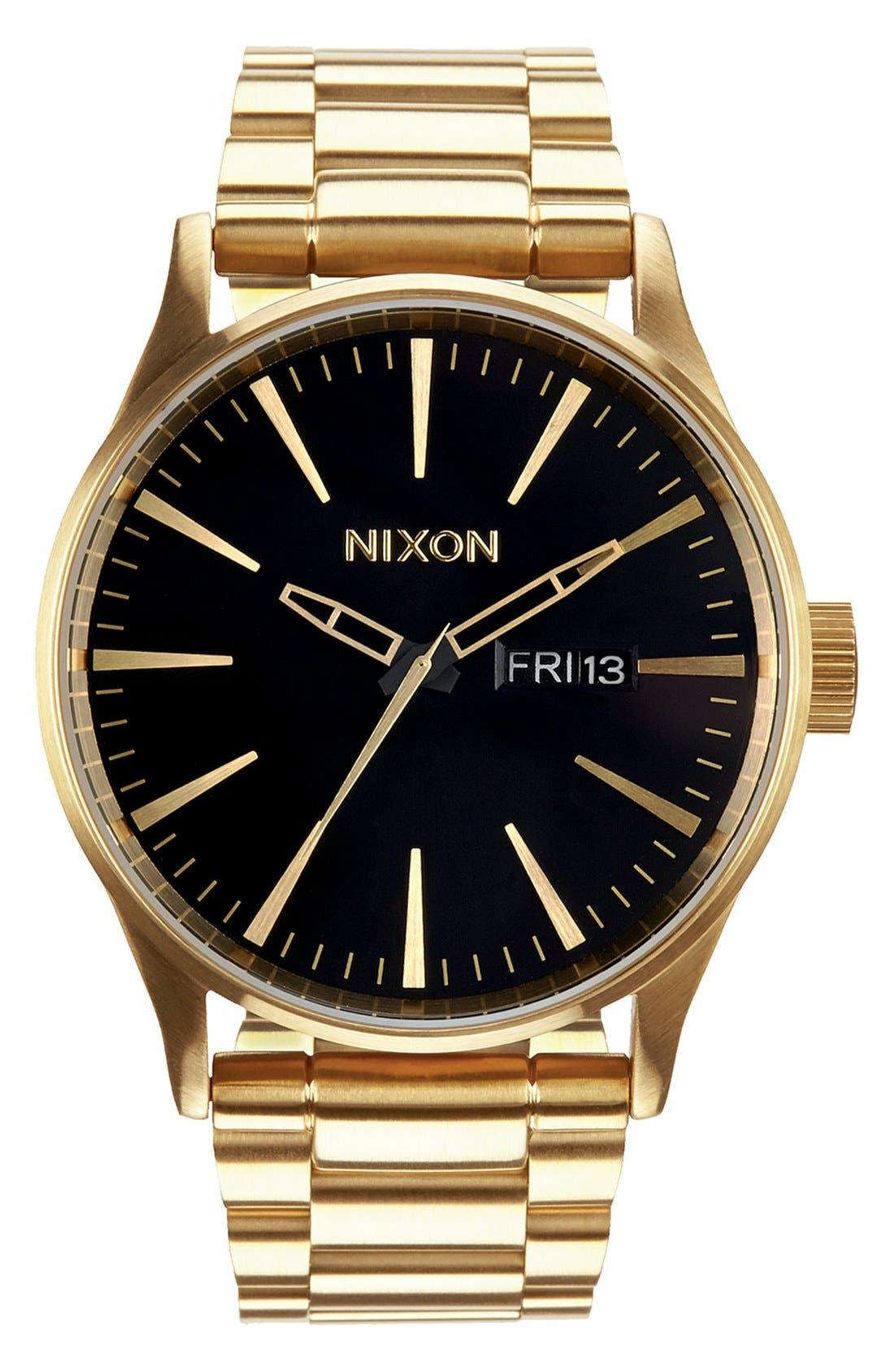 Sentry Bracelet Watch, 42mm,                             Main thumbnail 1, color,                             Gold/ Black
