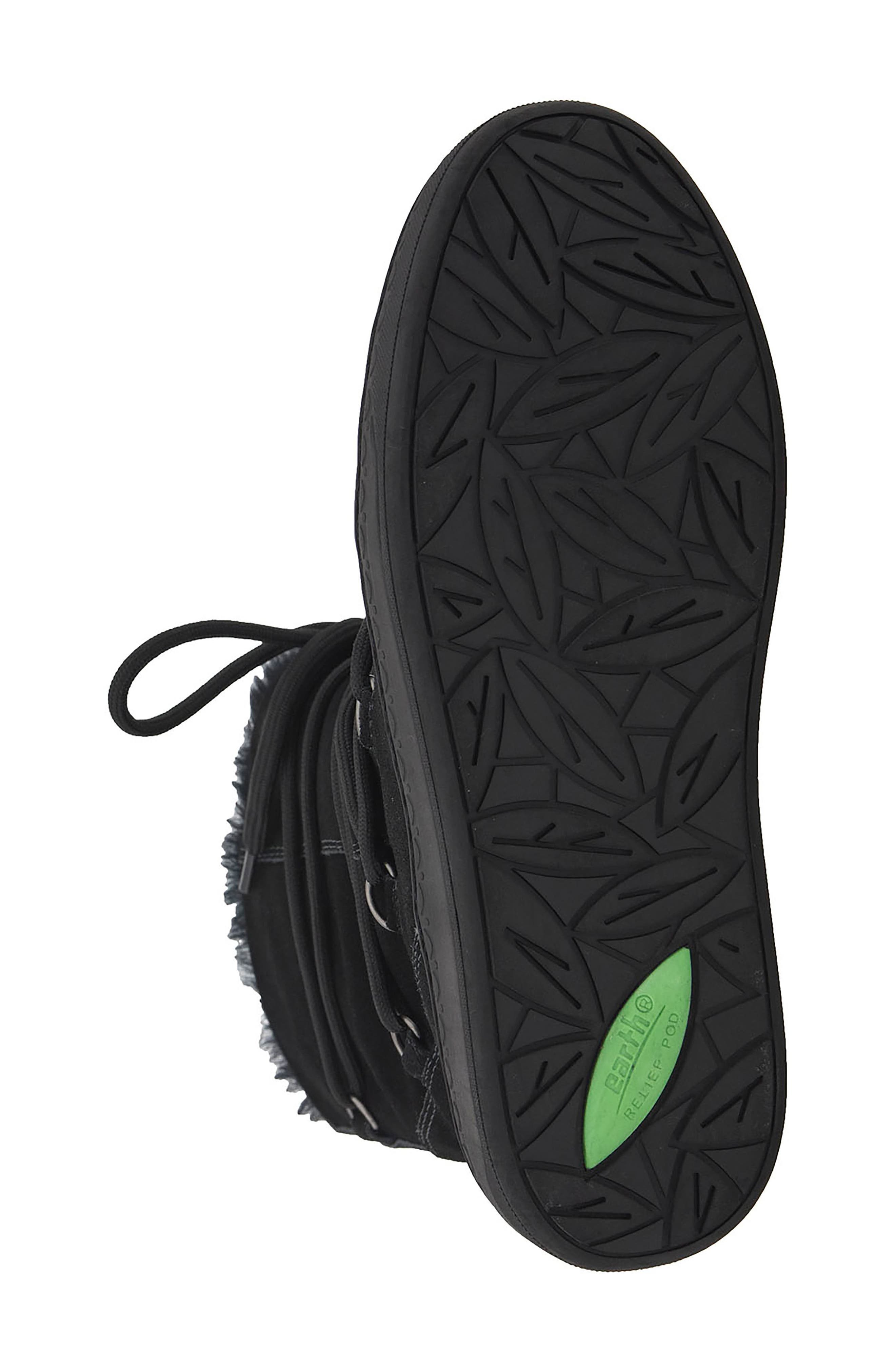Zodiac Water Resistant Boot,                             Alternate thumbnail 6, color,                             Black Suede