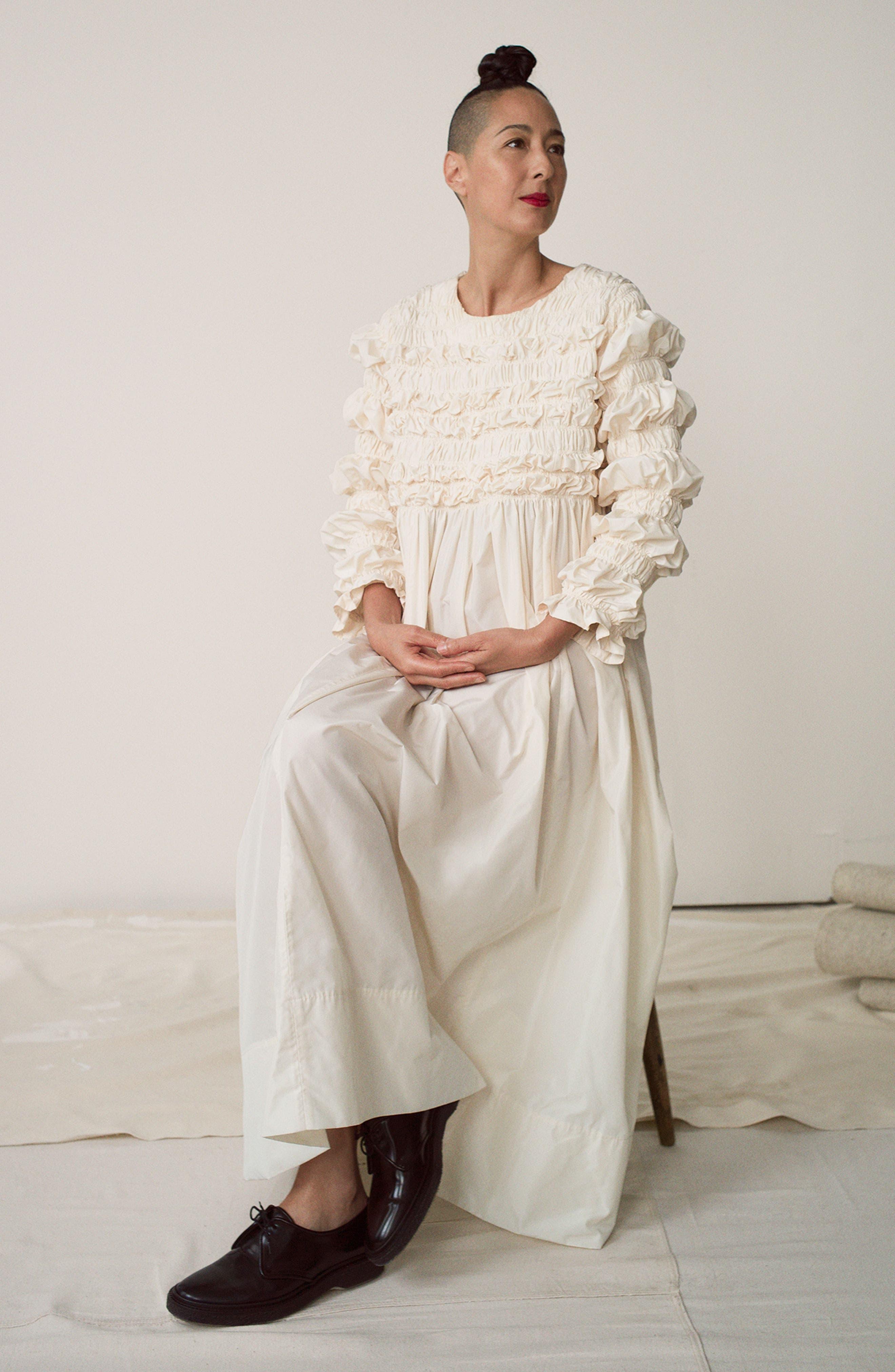 Alternate Image 6  - Molly Goddard Lizzie Ruffled Taffeta Dress