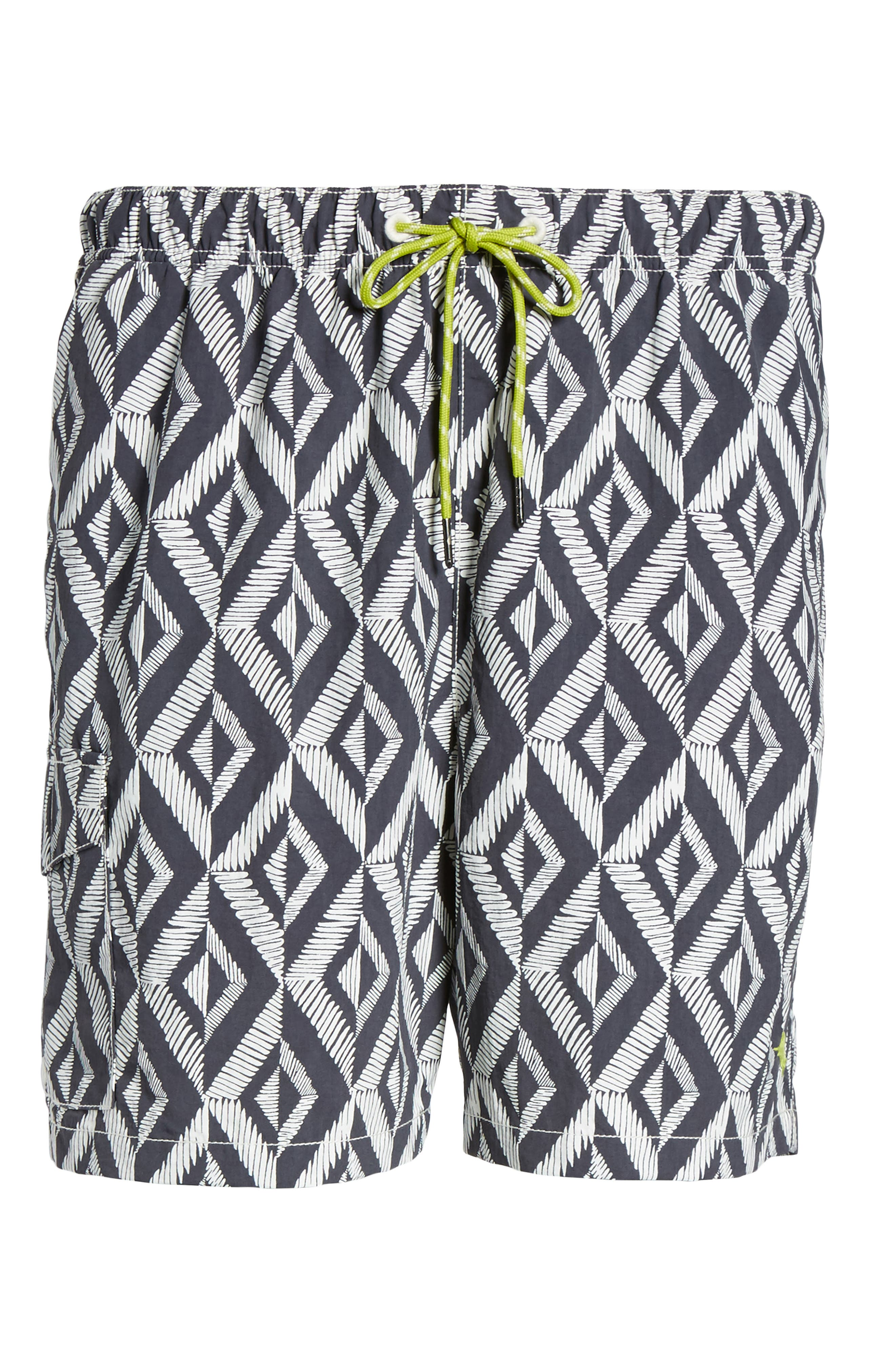 Naples Almas Swim Trunks,                             Alternate thumbnail 6, color,                             Night Swim