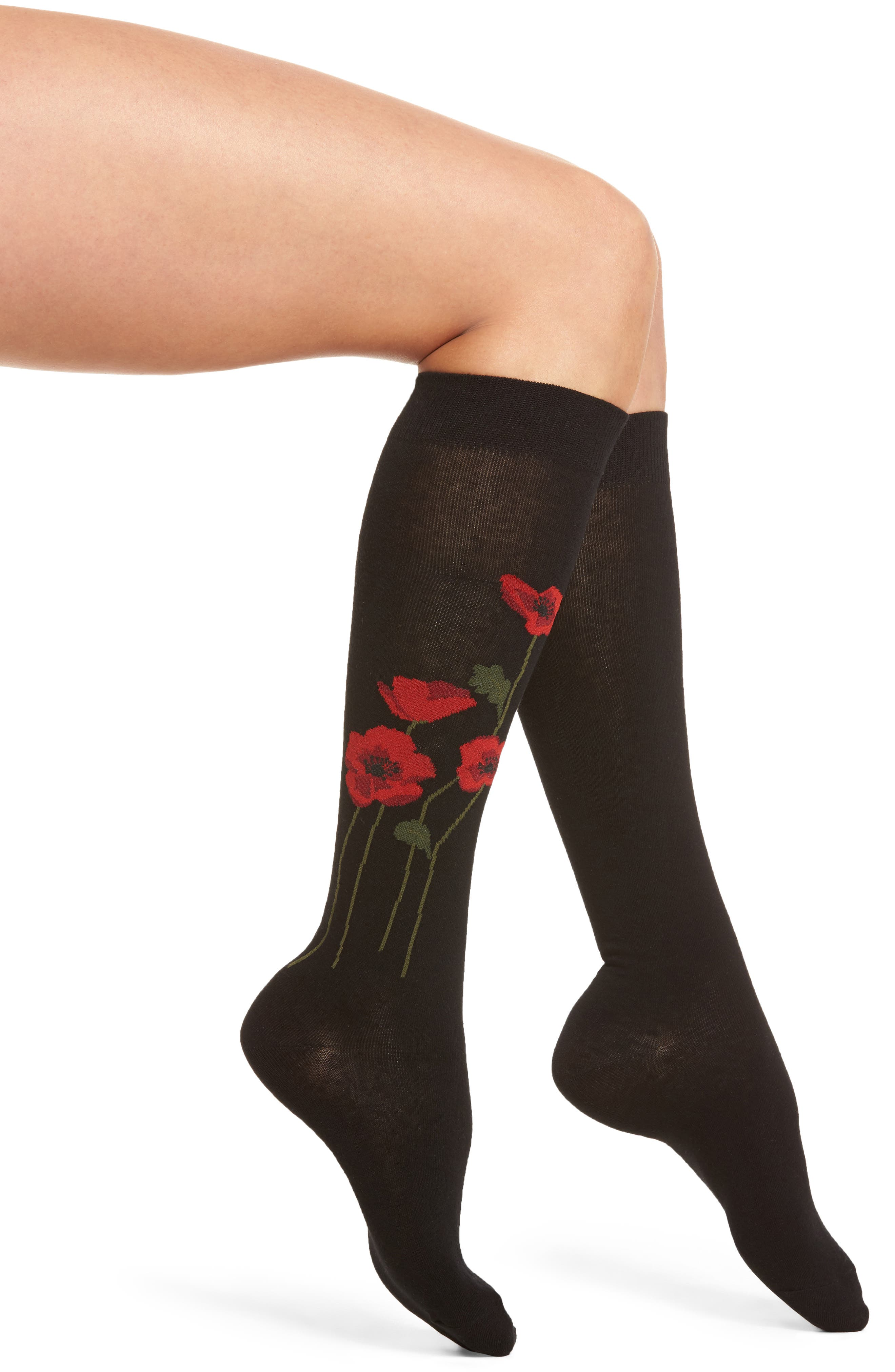 kate spade new york falling poppy knee high socks (2 for $20)
