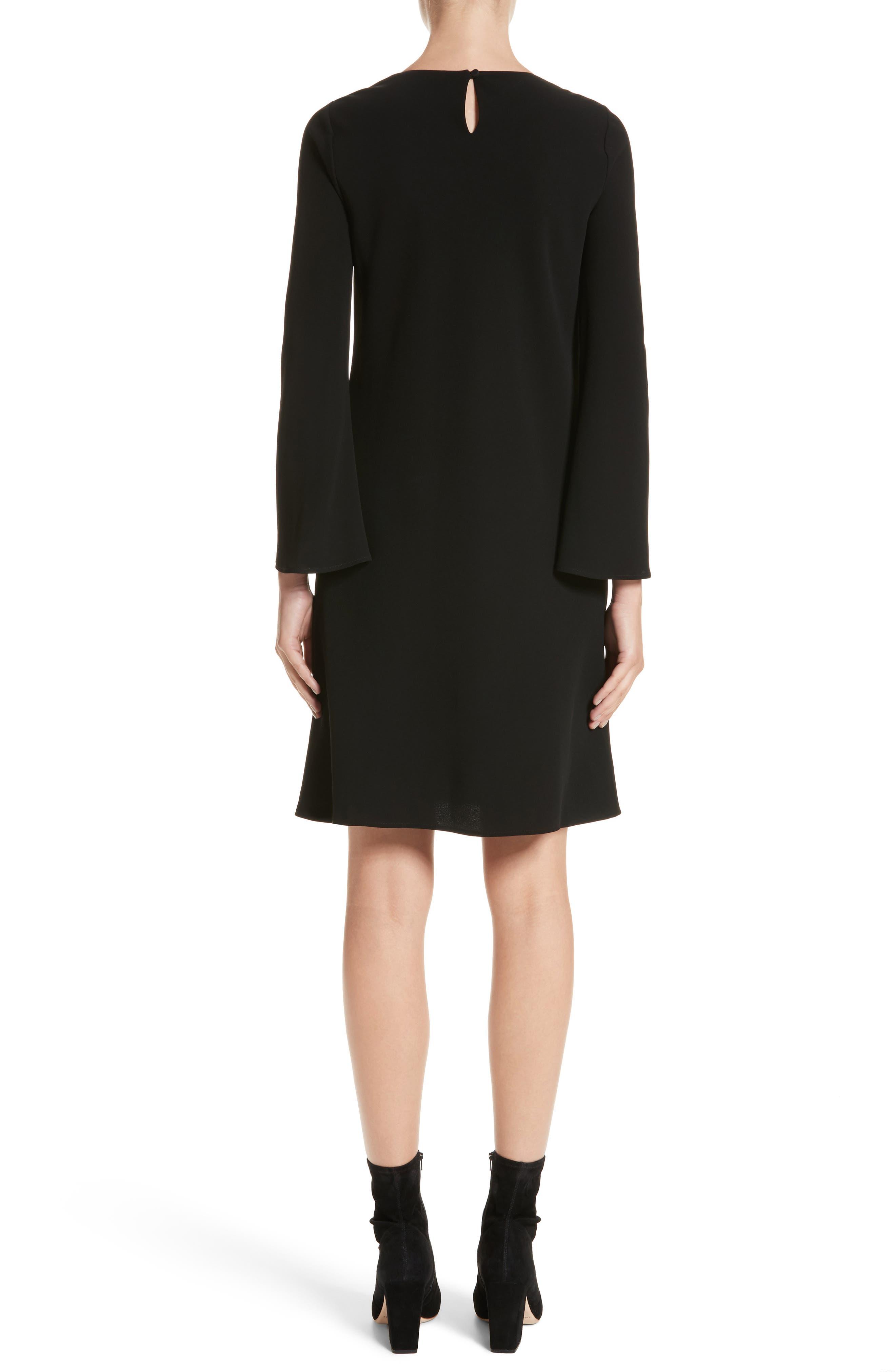 Kalitta Finesse Crepe Dress,                             Alternate thumbnail 2, color,                             Black