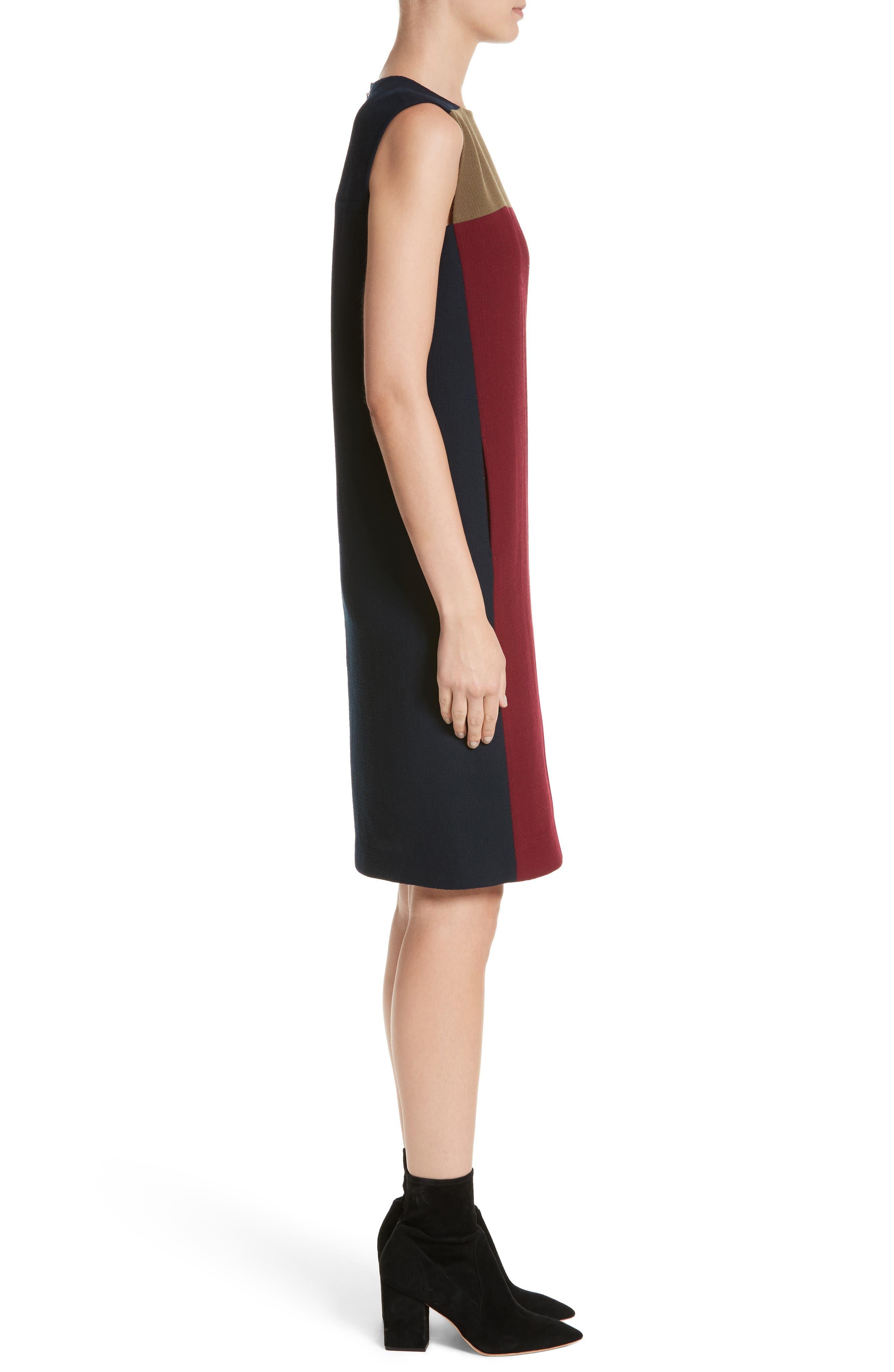 Alternate Image 3  - Lafayette 148 New York Zandra Colorblock Nouveau Crepe Dress