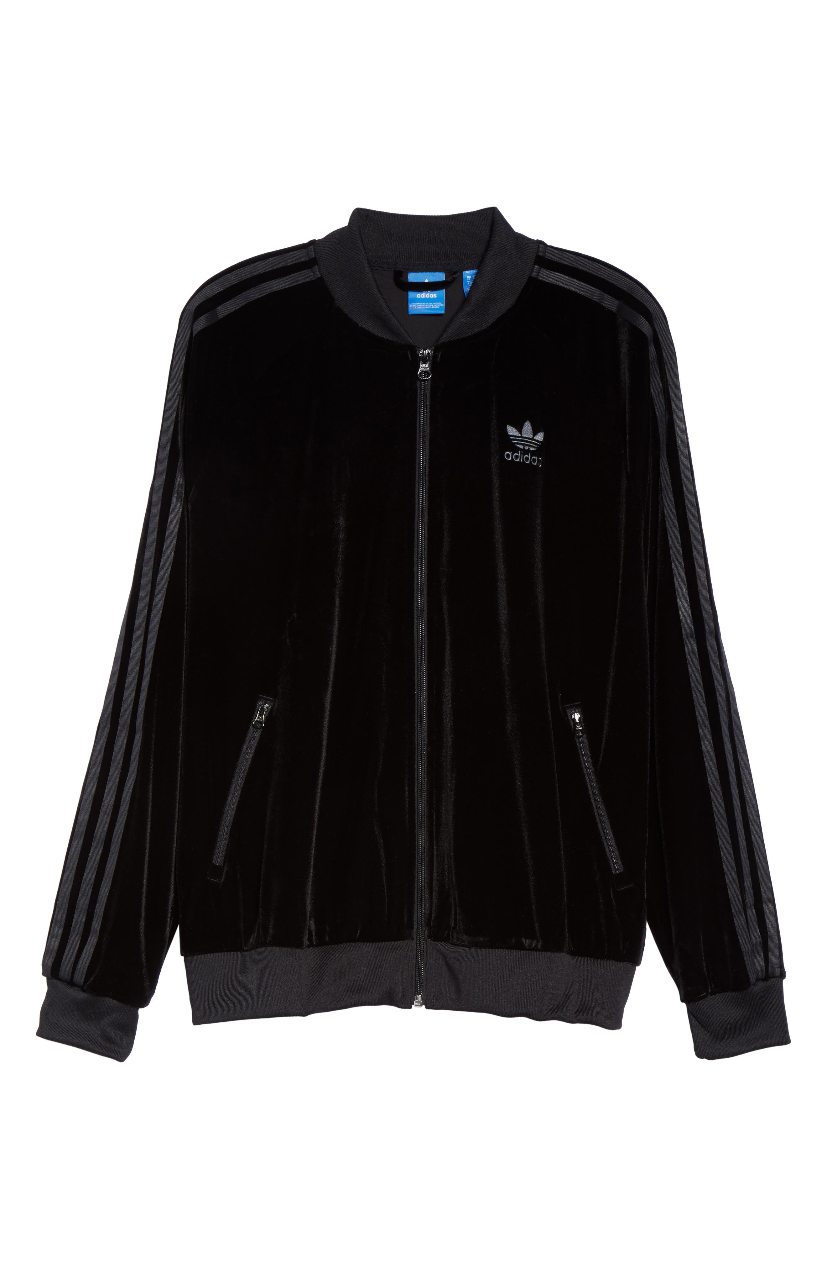 Alternate Image 7  - adidas originals Velvet Zip Sweatshirt