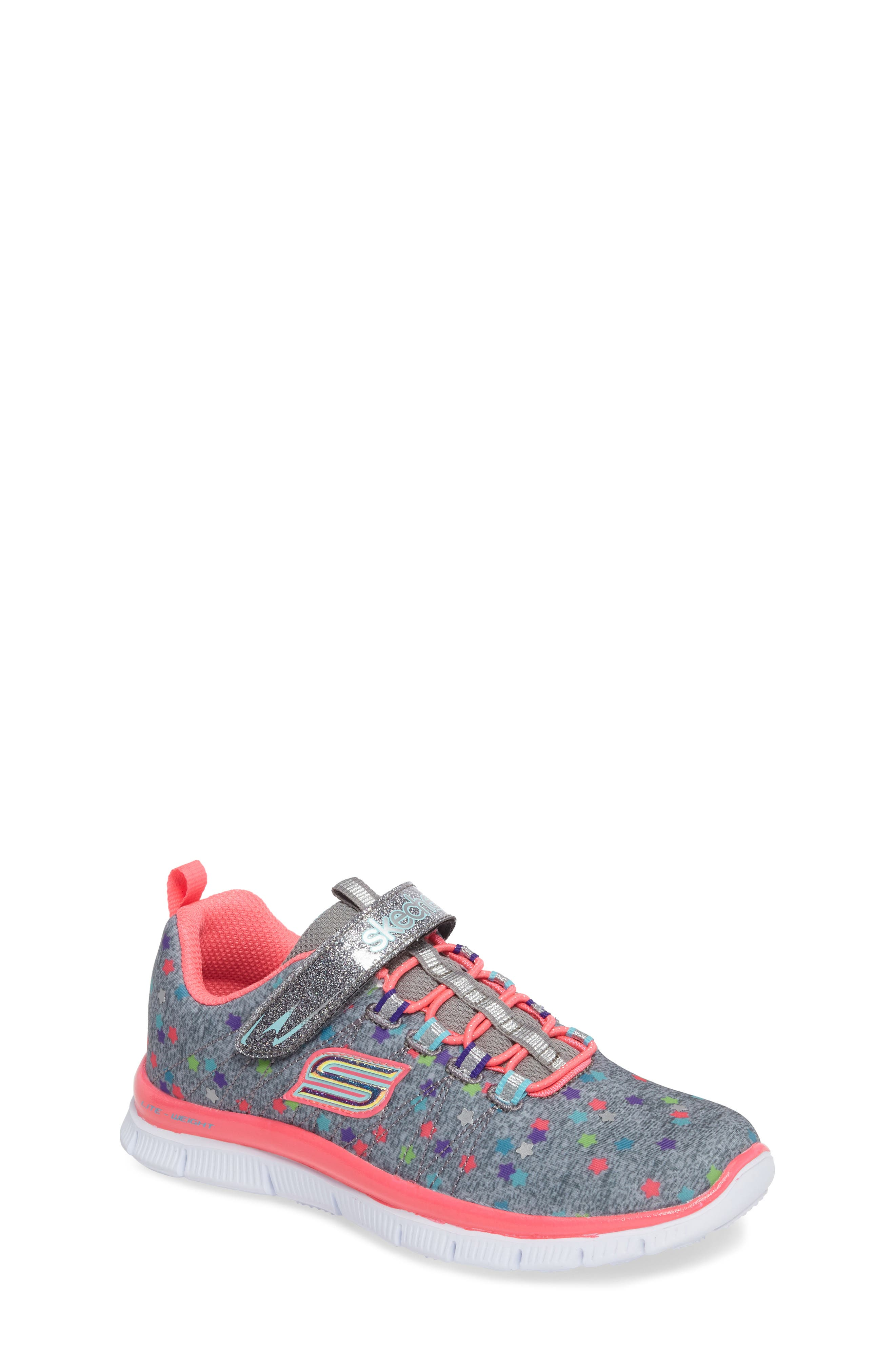 Skech Appeal Star Spirit Sneaker,                             Main thumbnail 1, color,                             Grey/ Multi