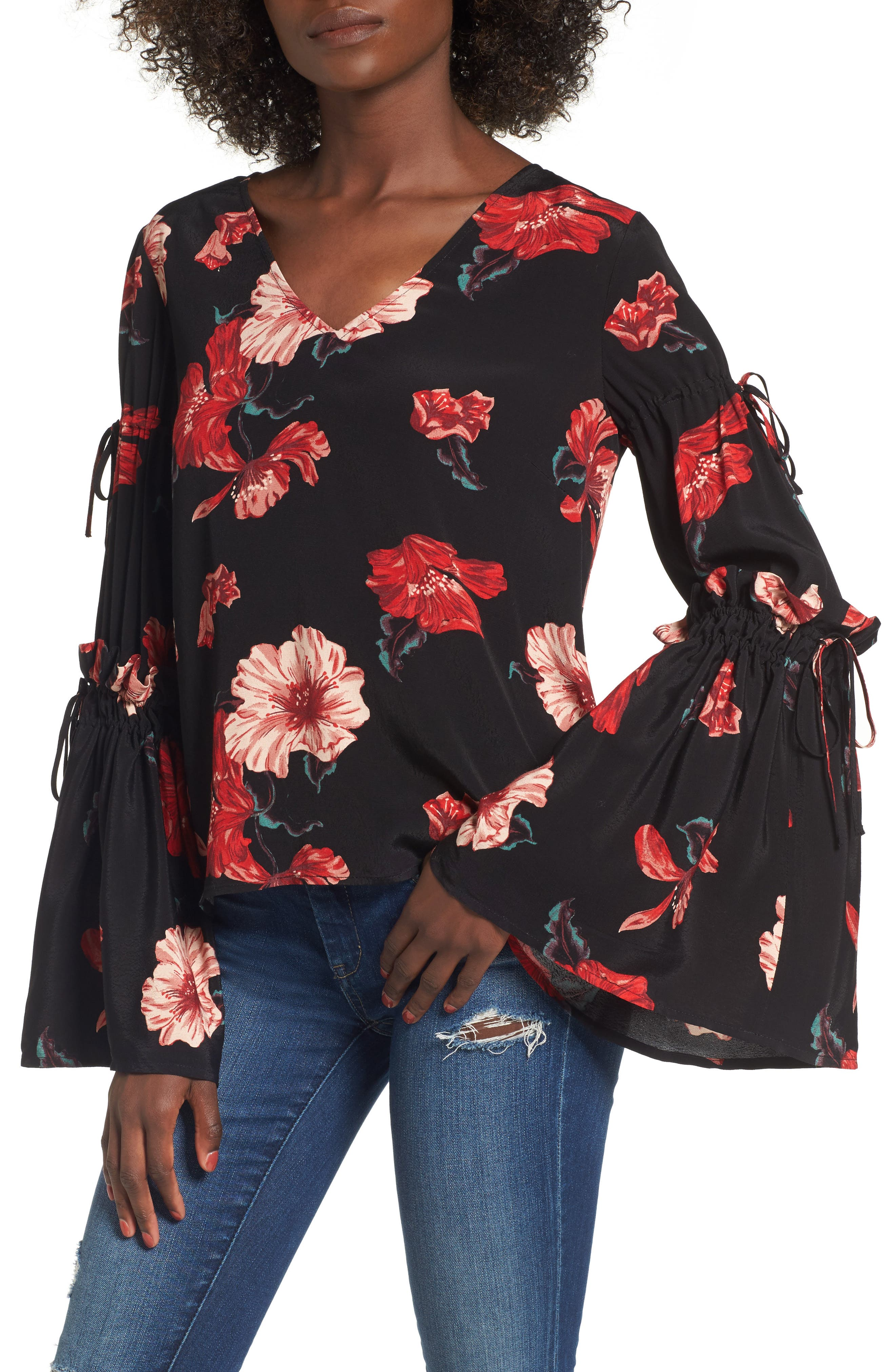 Leith Tie Bell Sleeve Top