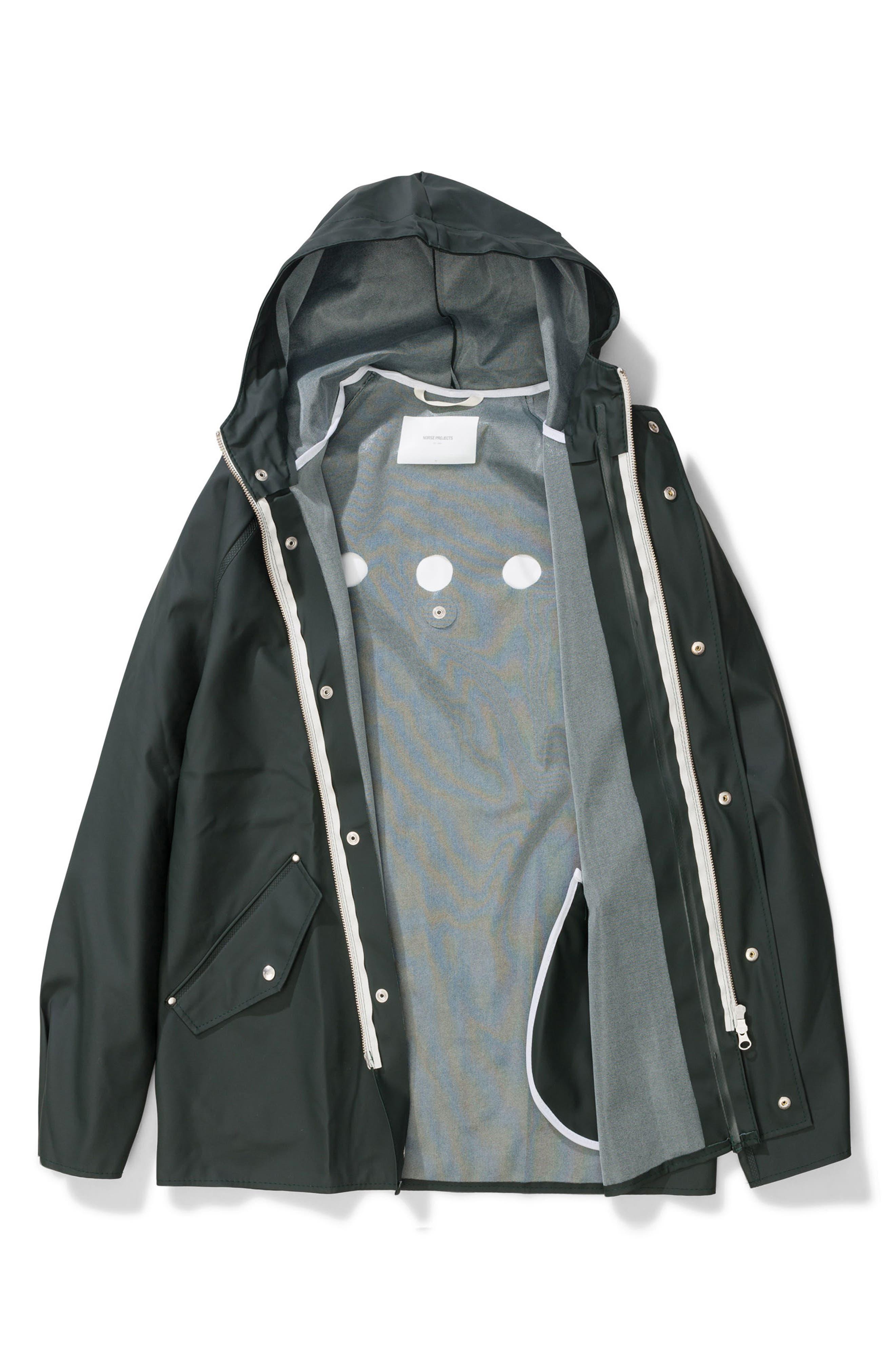 Waterproof Rain Jacket,                             Alternate thumbnail 11, color,                             Moss