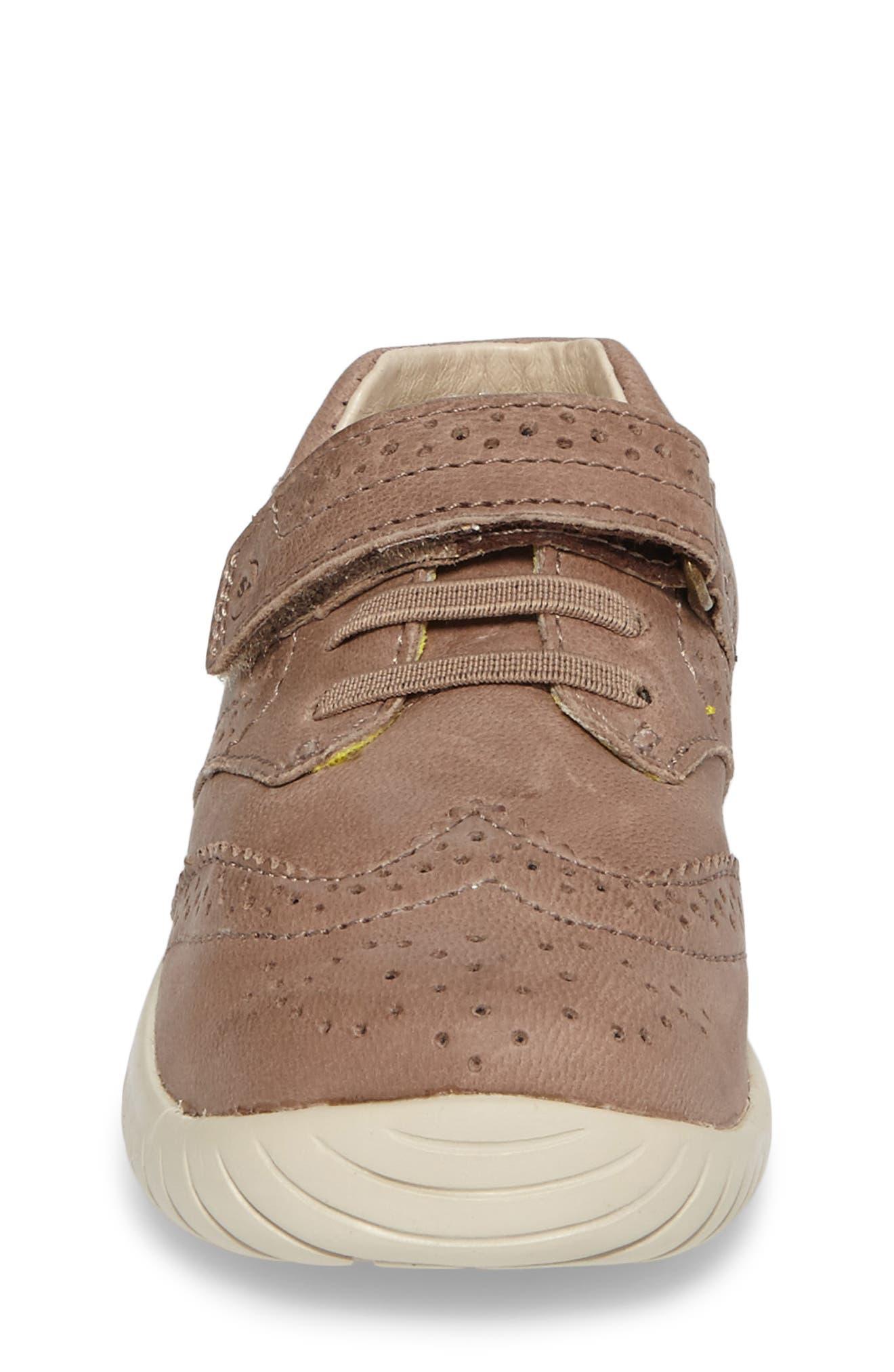 Addison Wingtip Sneaker,                             Alternate thumbnail 4, color,                             Brown