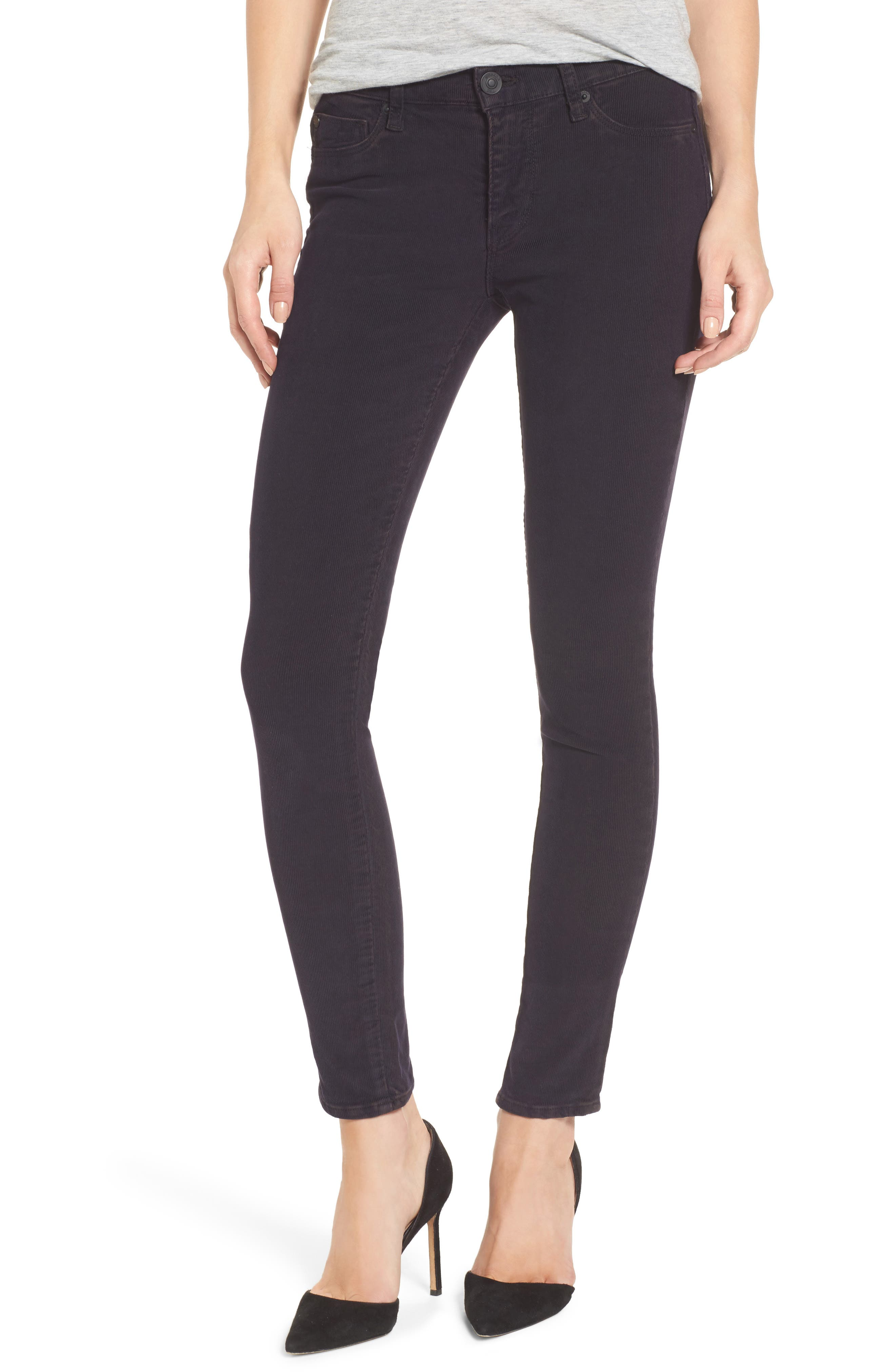 Nico Ankle Super Skinny Corduroy Pants,                             Main thumbnail 1, color,                             Broken Orchid