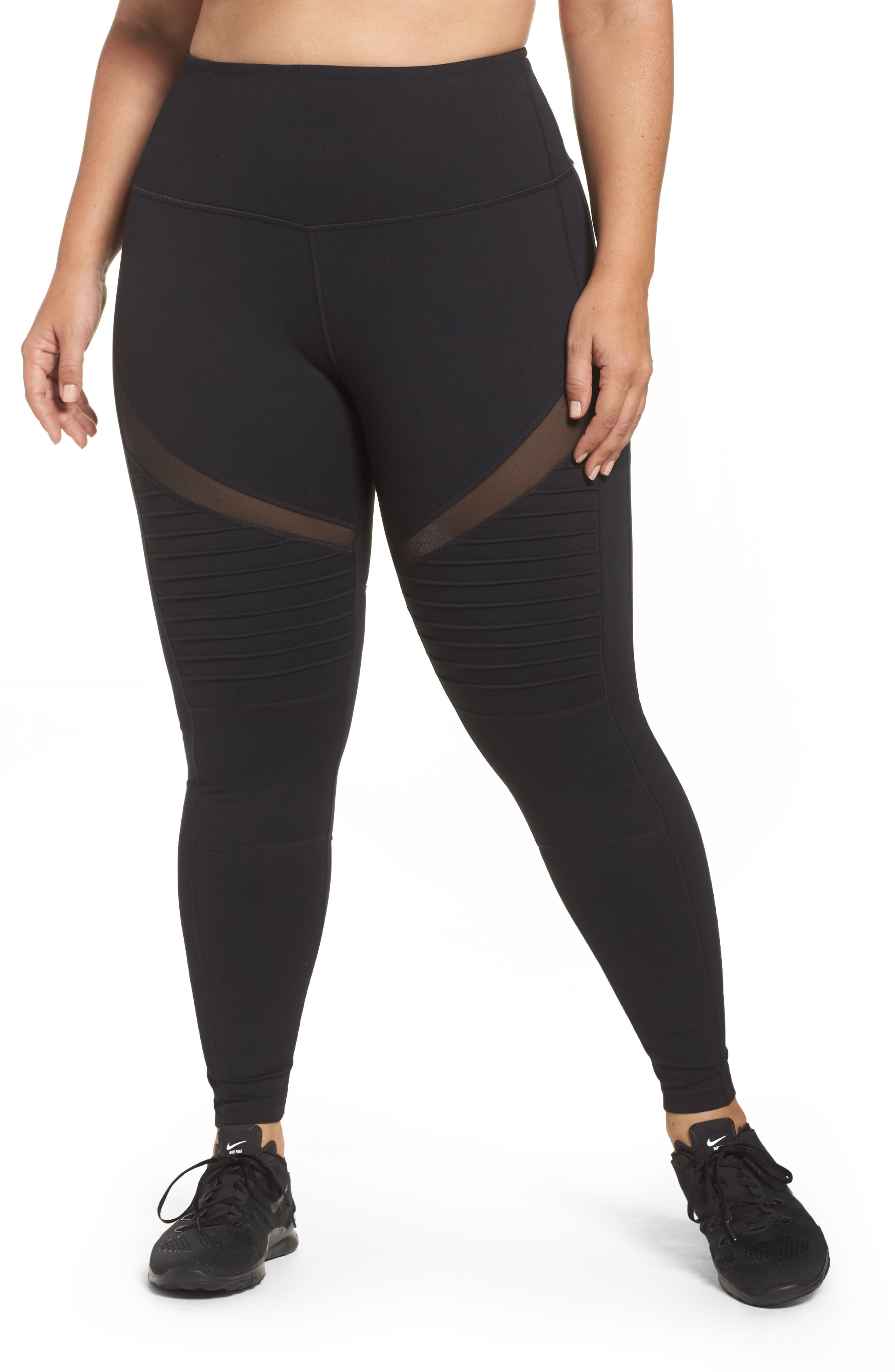 Zella Moto Ankle Leggings (Plus Size)