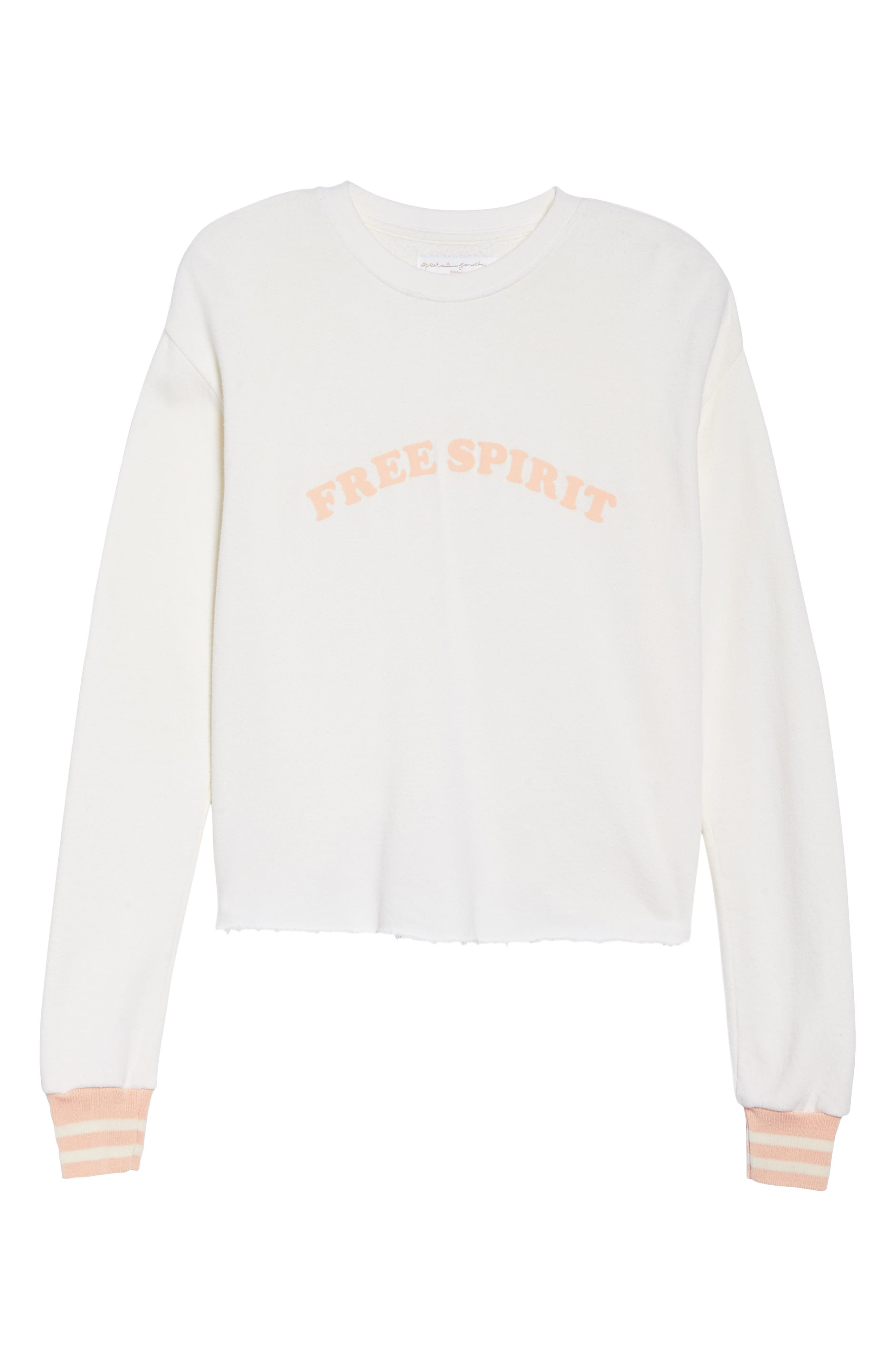 Free Spirit Crop Sweatshirt,                             Alternate thumbnail 7, color,                             Stardust