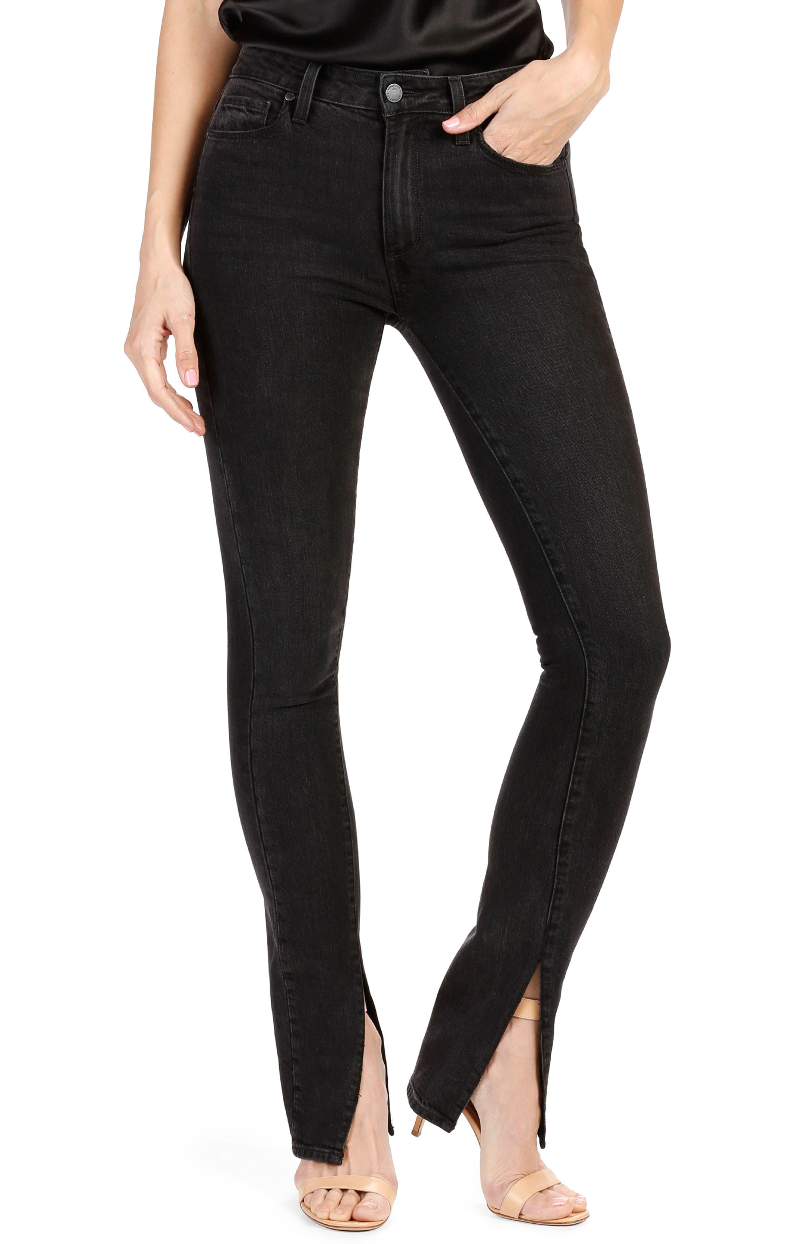 Rosie HW x PAIGE Constance Skinny Jeans,                         Main,                         color, Vintage Noir