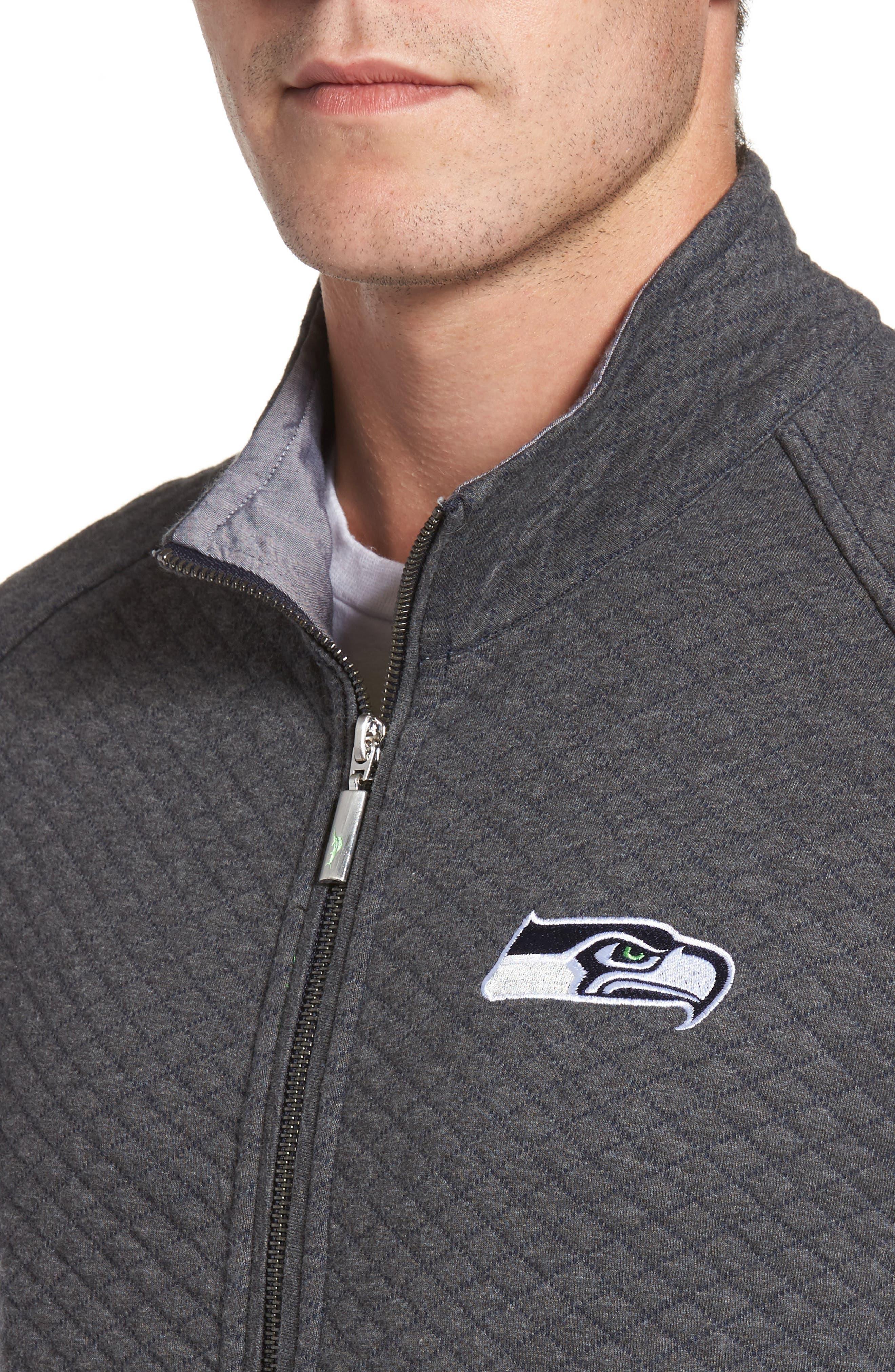 Alternate Image 4  - Tommy Bahama NFL Quiltessential Full Zip Sweatshirt
