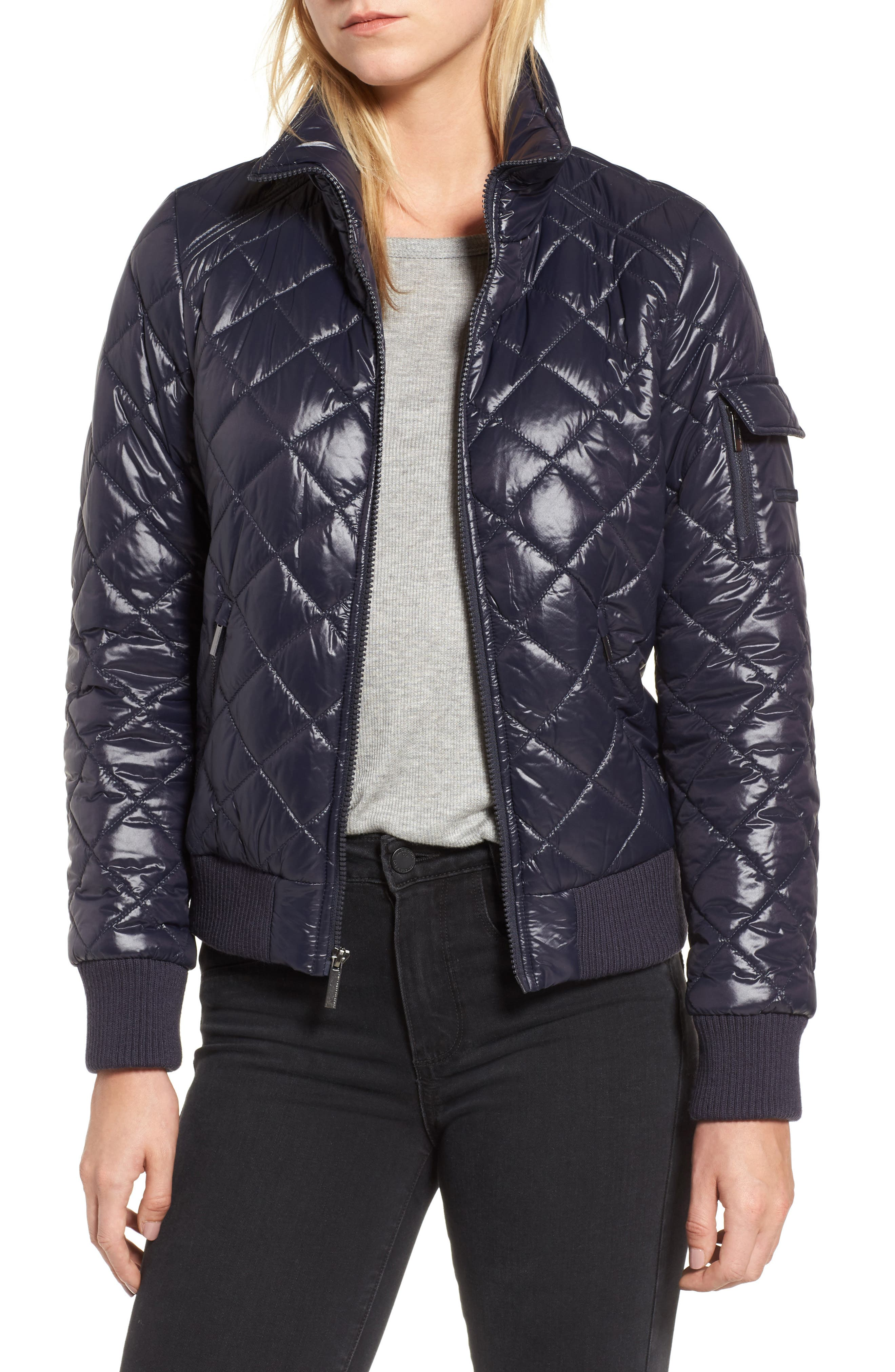 Alternate Image 1 Selected - French Connection Quilted Bomber Jacket