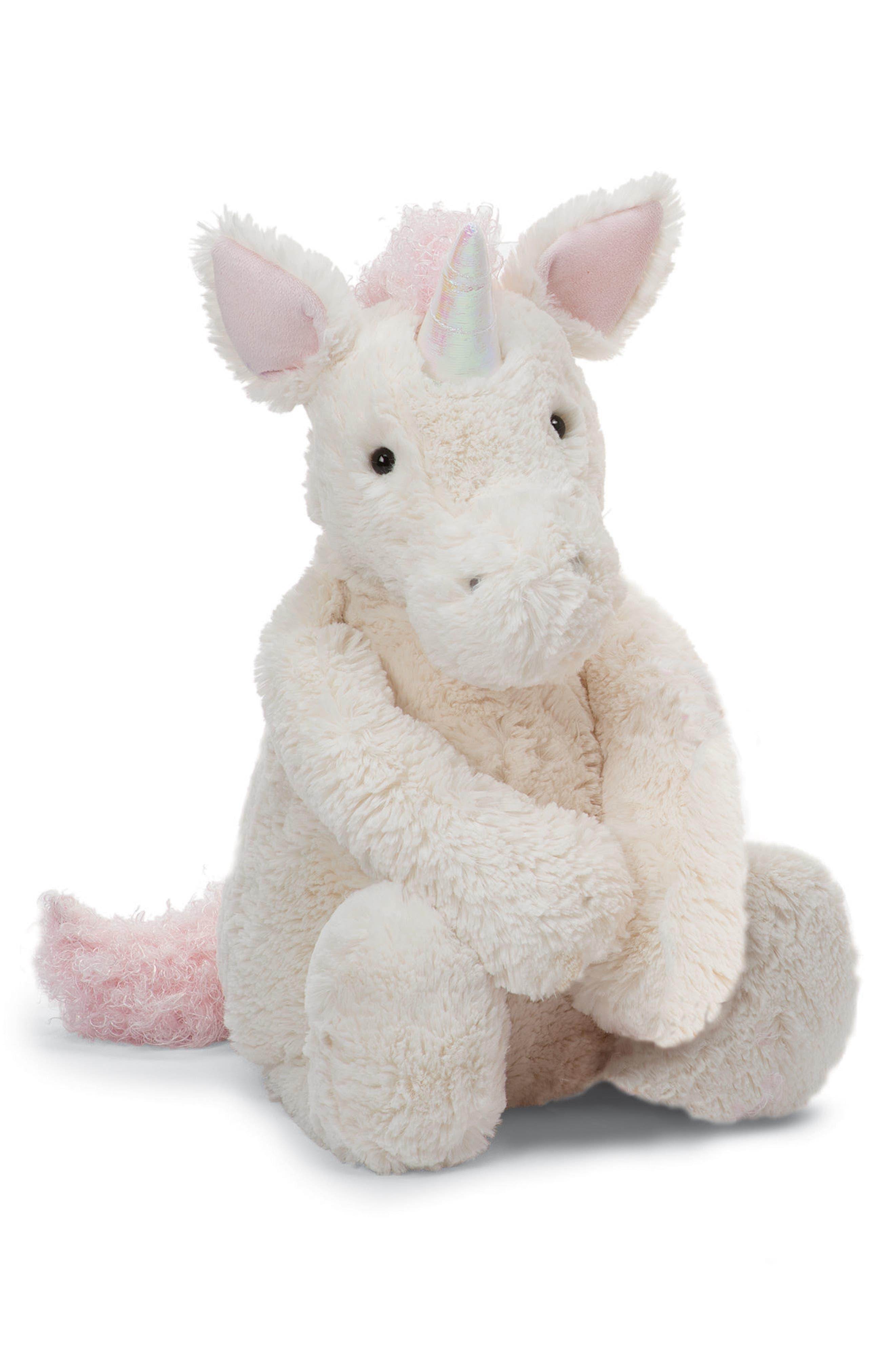Large Bashful Unicorn,                         Main,                         color, White