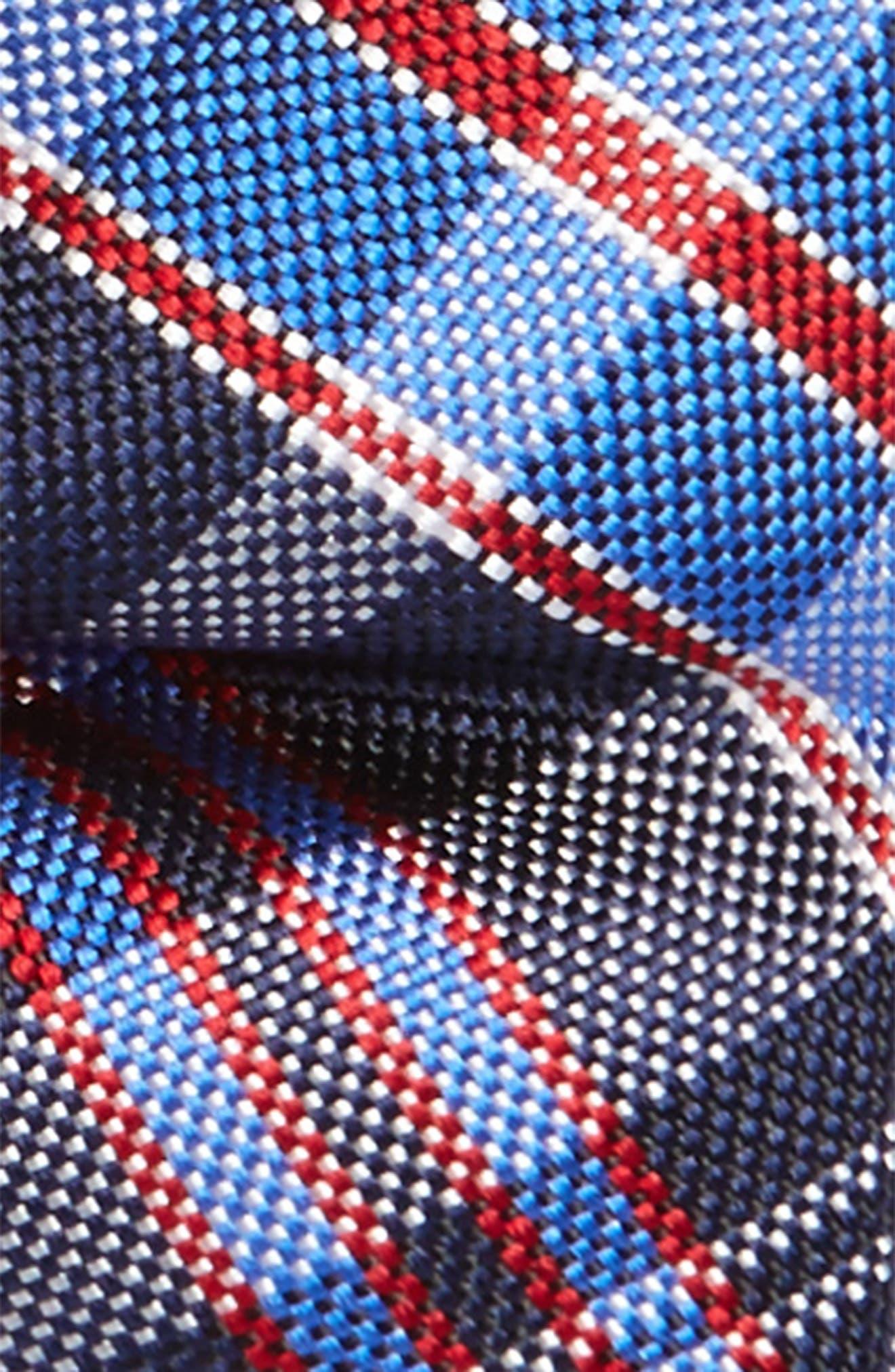 Plaid Silk Bow Tie,                             Alternate thumbnail 2, color,                             Navy