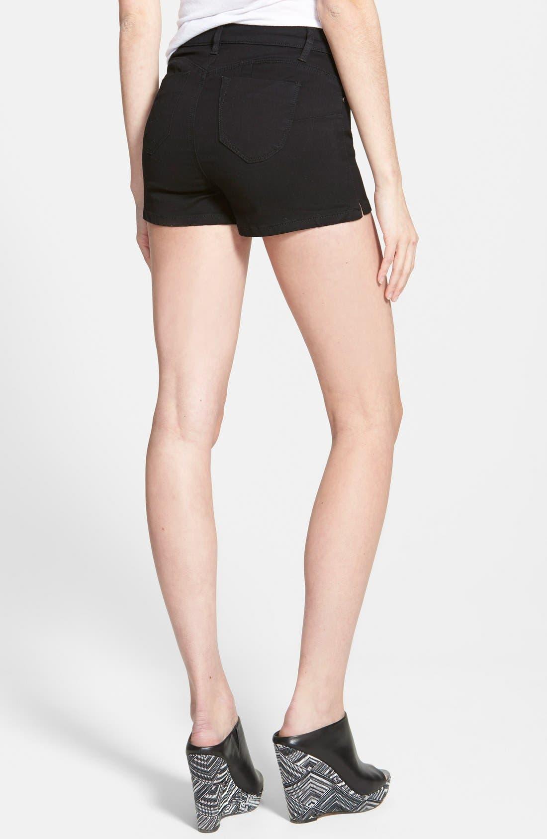 Alternate Image 2  - Generra High Waist Button Front Shorts (Juniors)