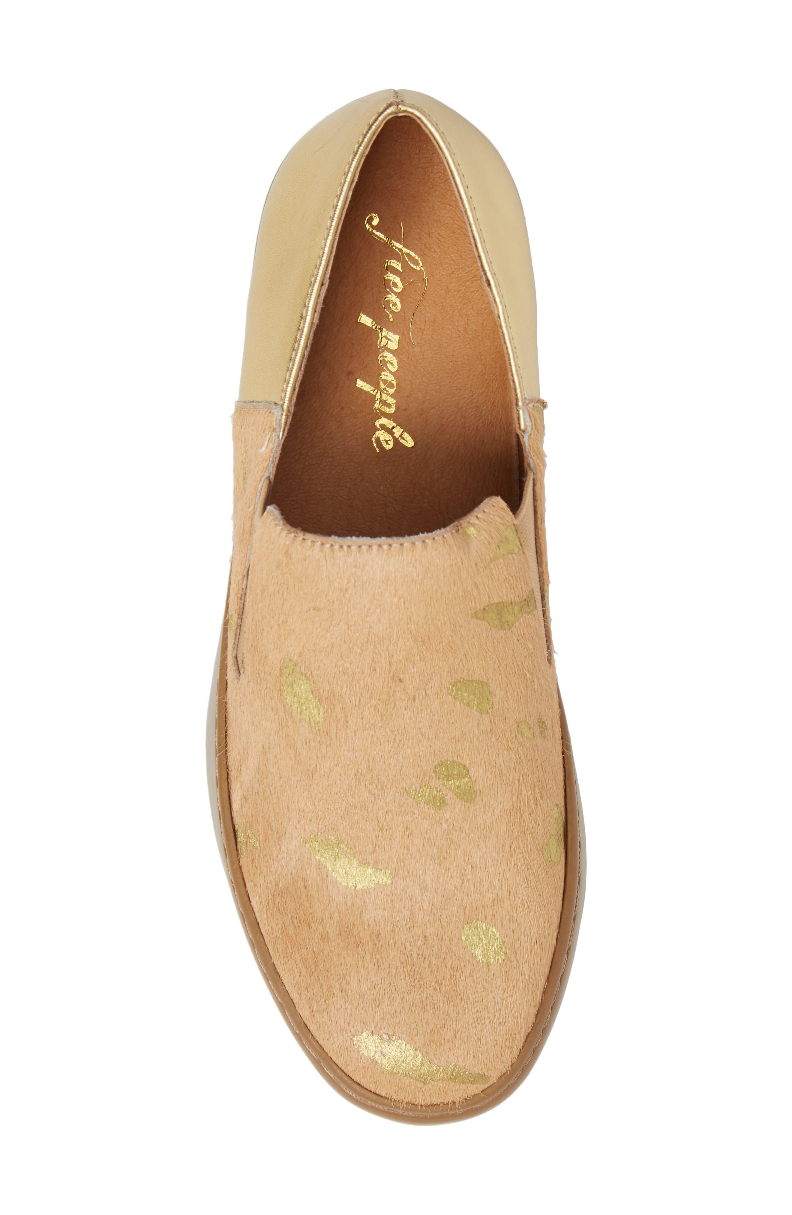 Varsity Slip-On Sneaker,                             Alternate thumbnail 5, color,                             Taupe
