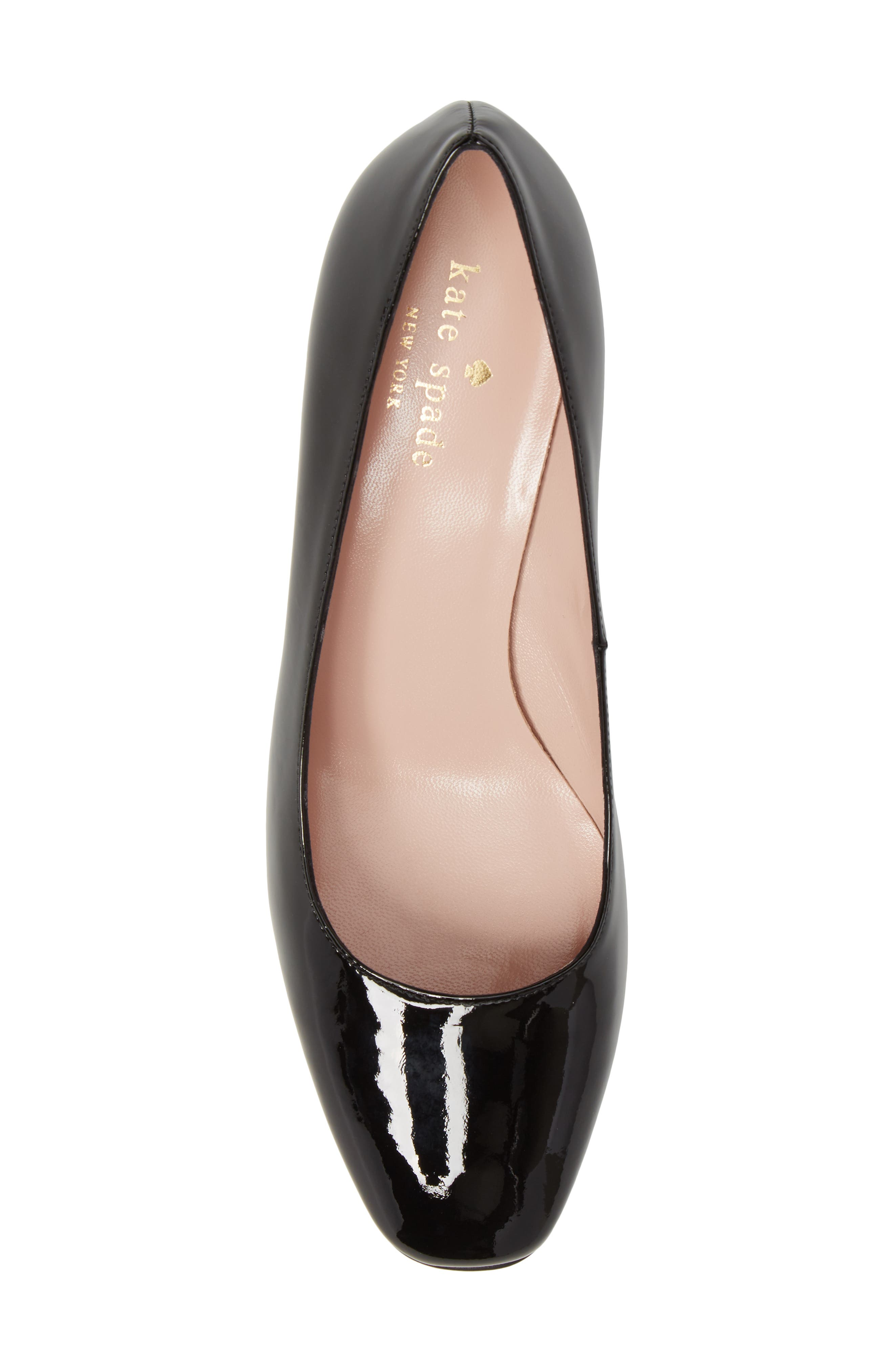 danika too pump,                             Alternate thumbnail 5, color,                             Black Patent/ Light Natural