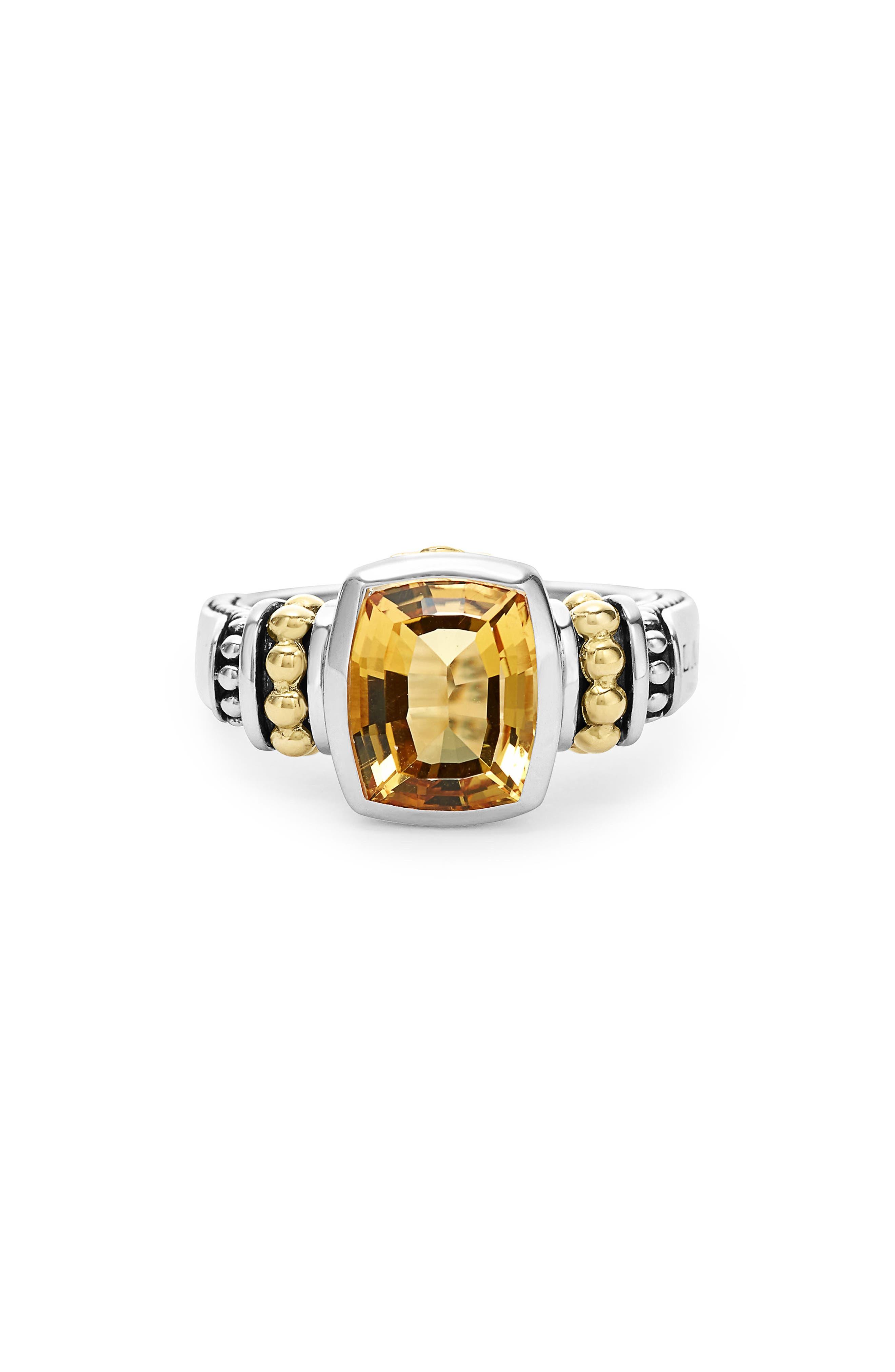 Alternate Image 1 Selected - LAGOS 'Caviar Color' Small Semiprecious Stone Ring