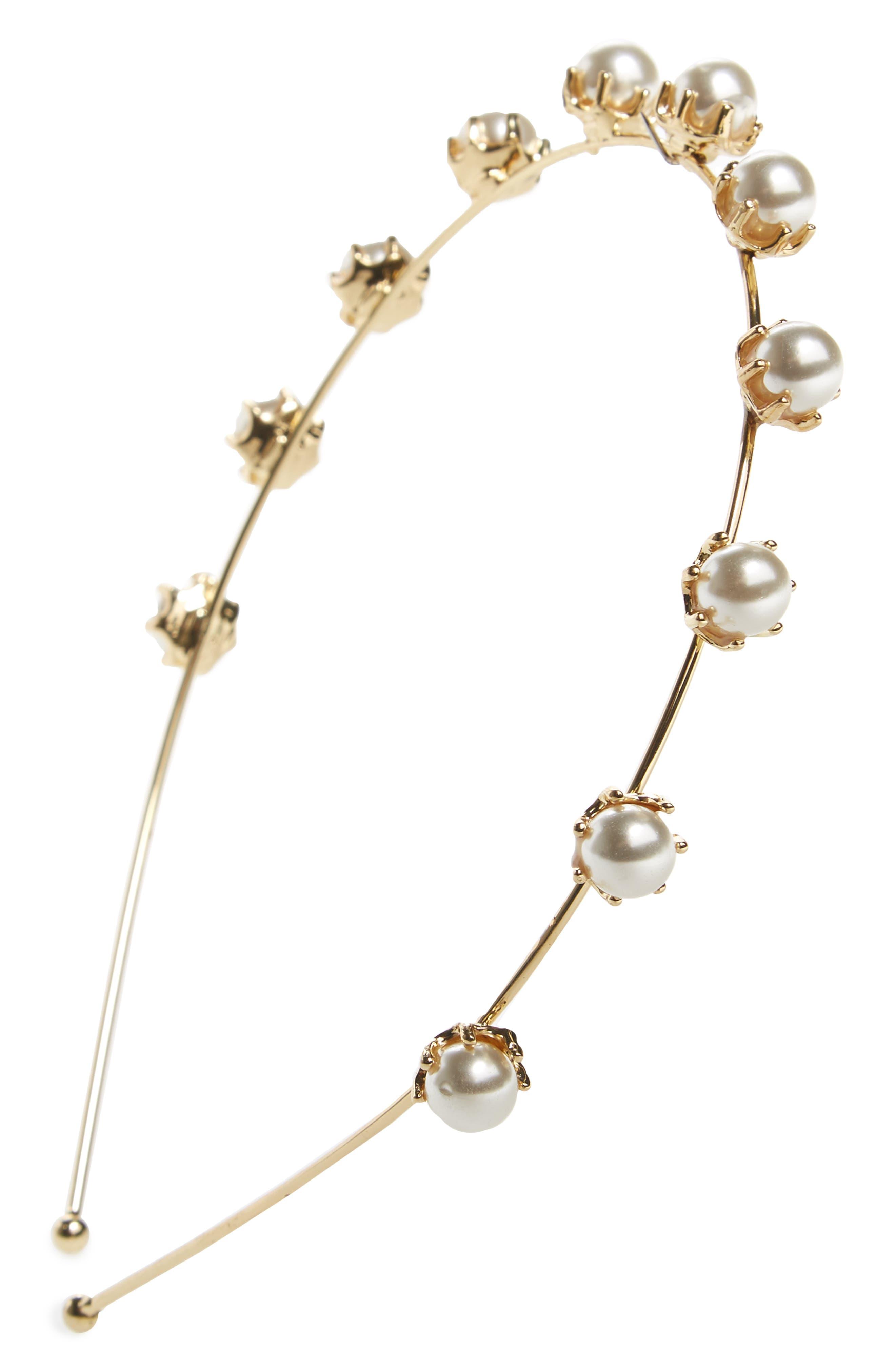 CARA Imitation Pearl Embellished Headband