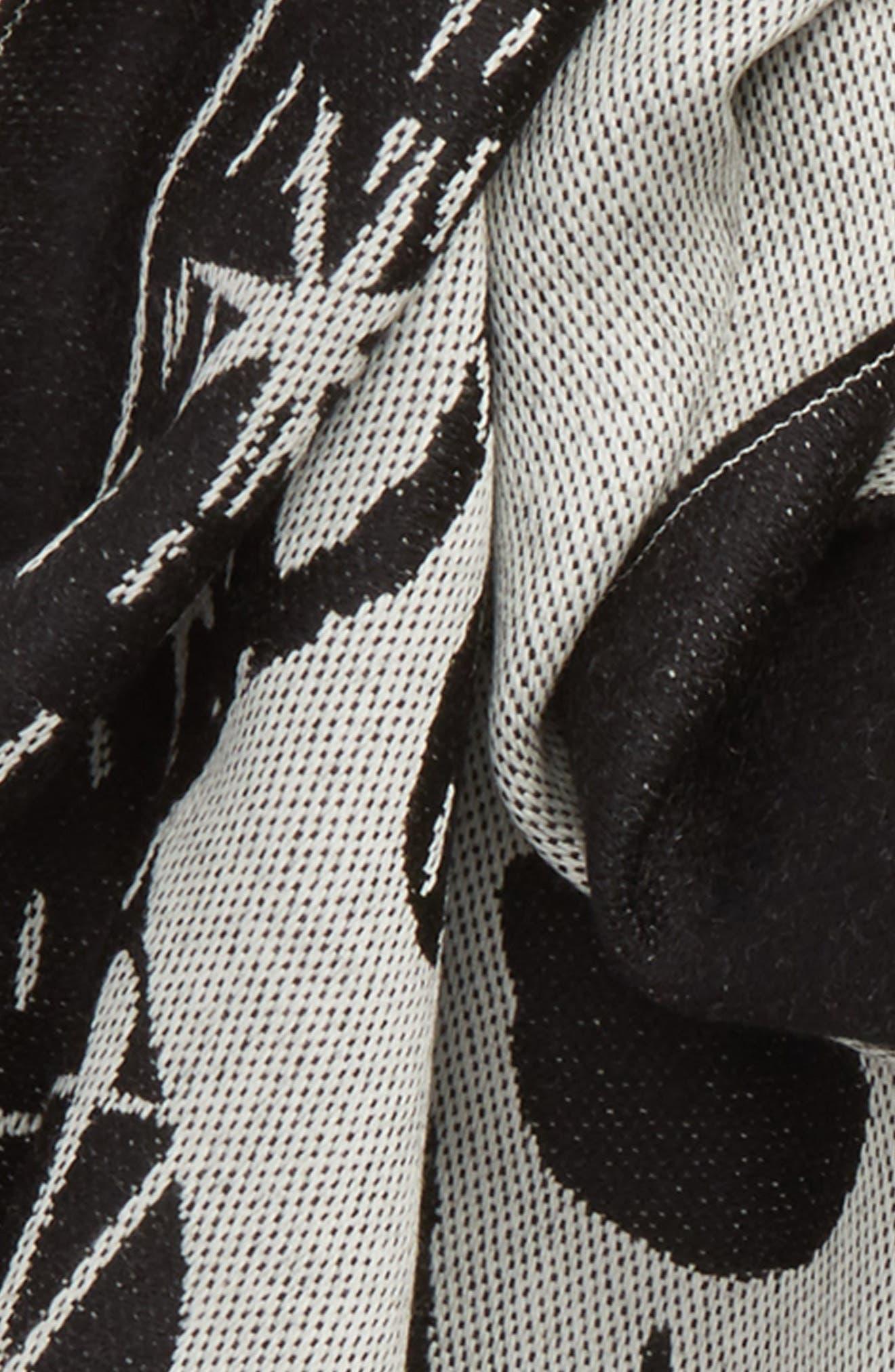 Alternate Image 3  - Alexander McQueen Oversize Skull Jacquard Wool Scarf