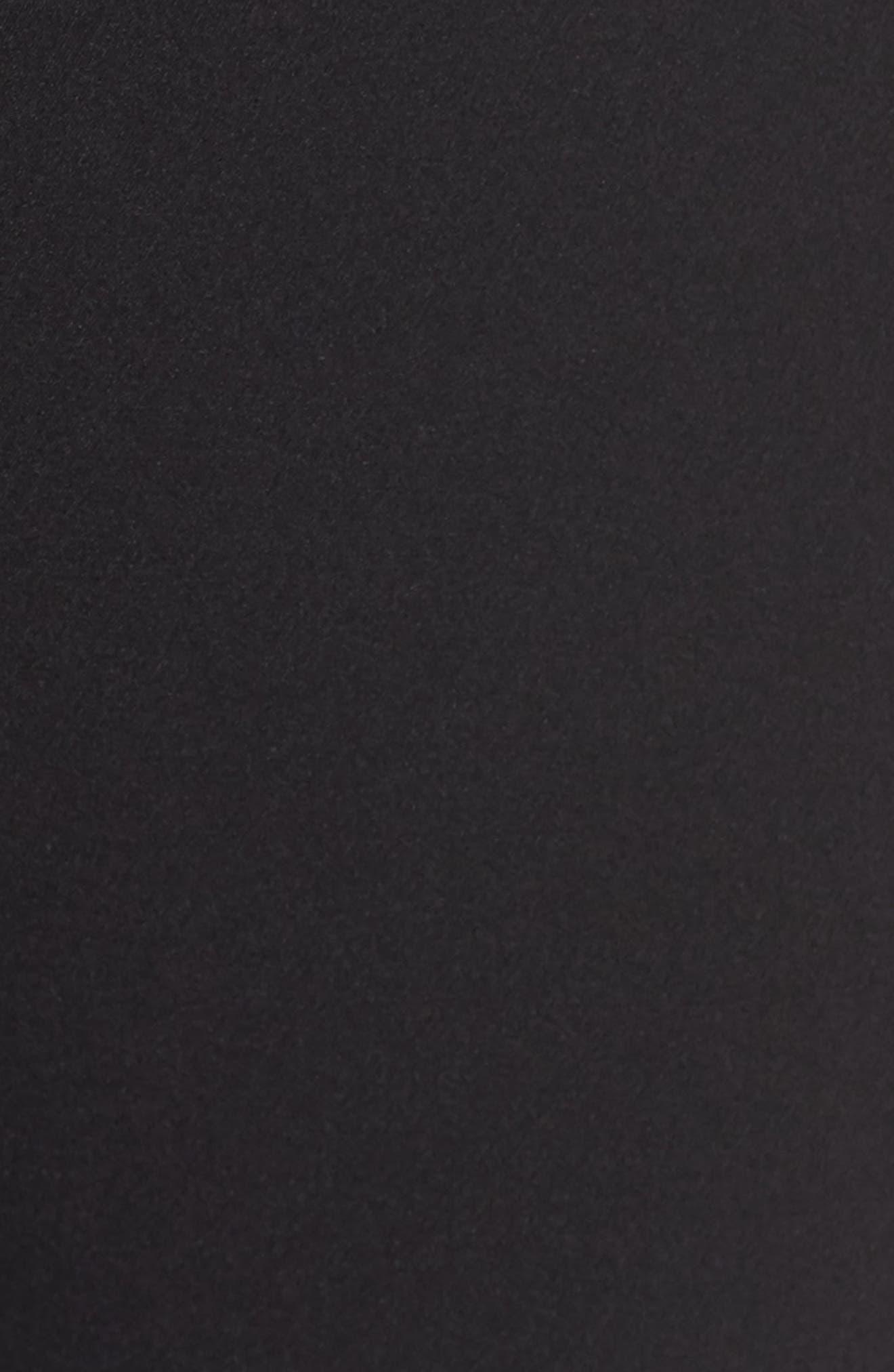 Roxy Flare Leg Pants,                             Alternate thumbnail 5, color,                             Black