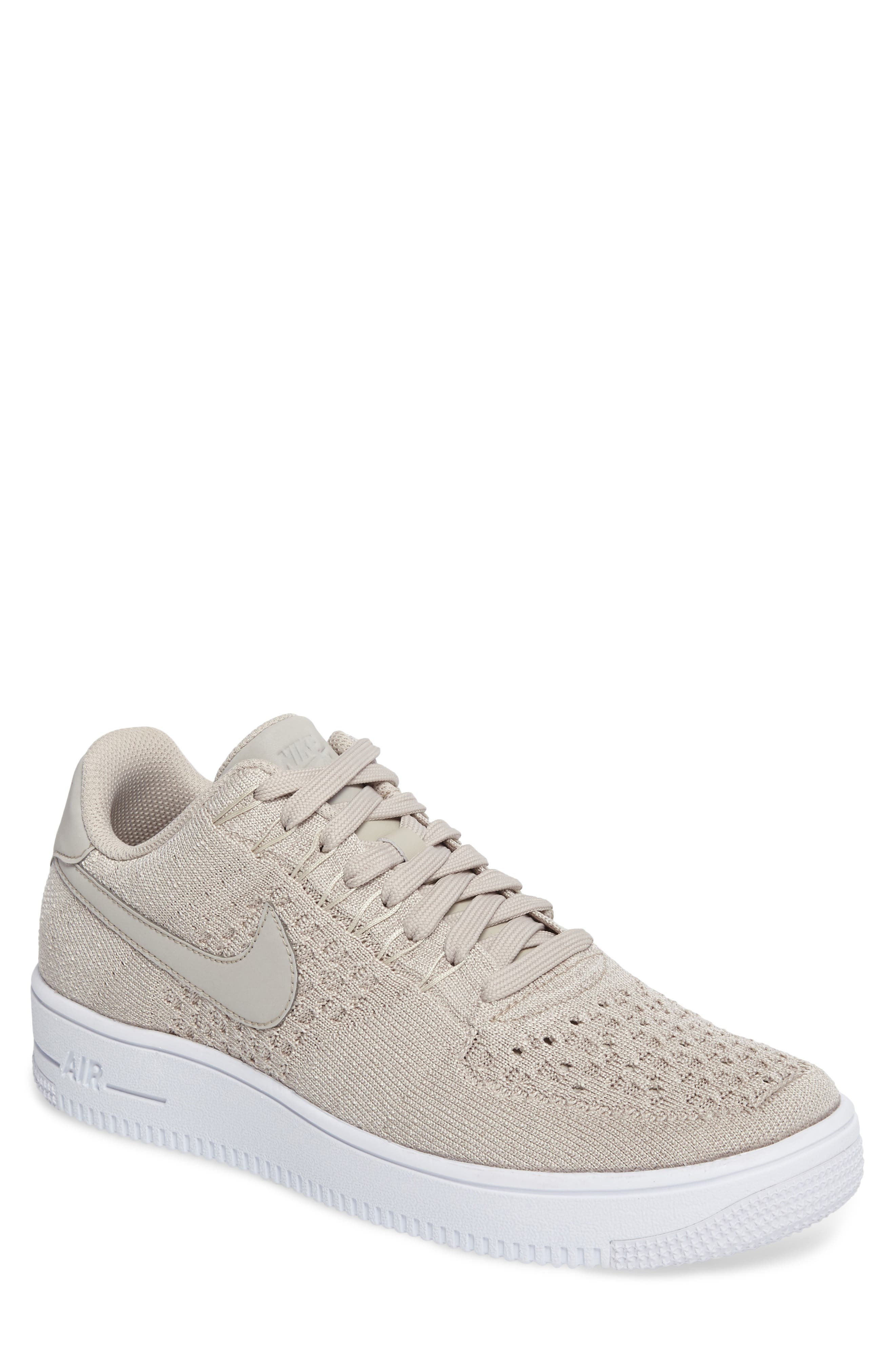 Air Force 1 Ultra Flyknit Low Sneaker,                         Main,                         color, String/ String/ White