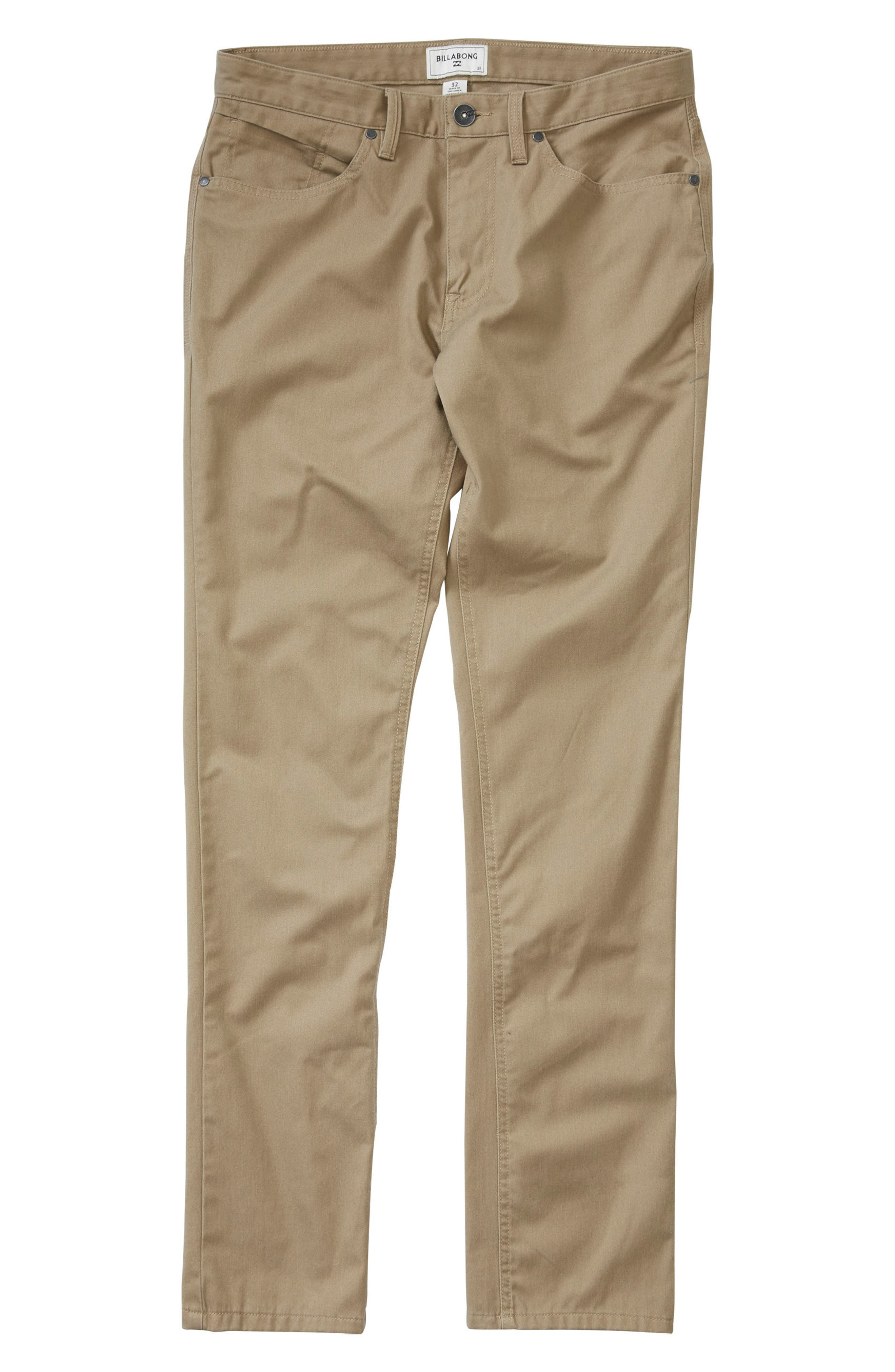 Carter Stretch Twill Chinos,                         Main,                         color, Light Khaki