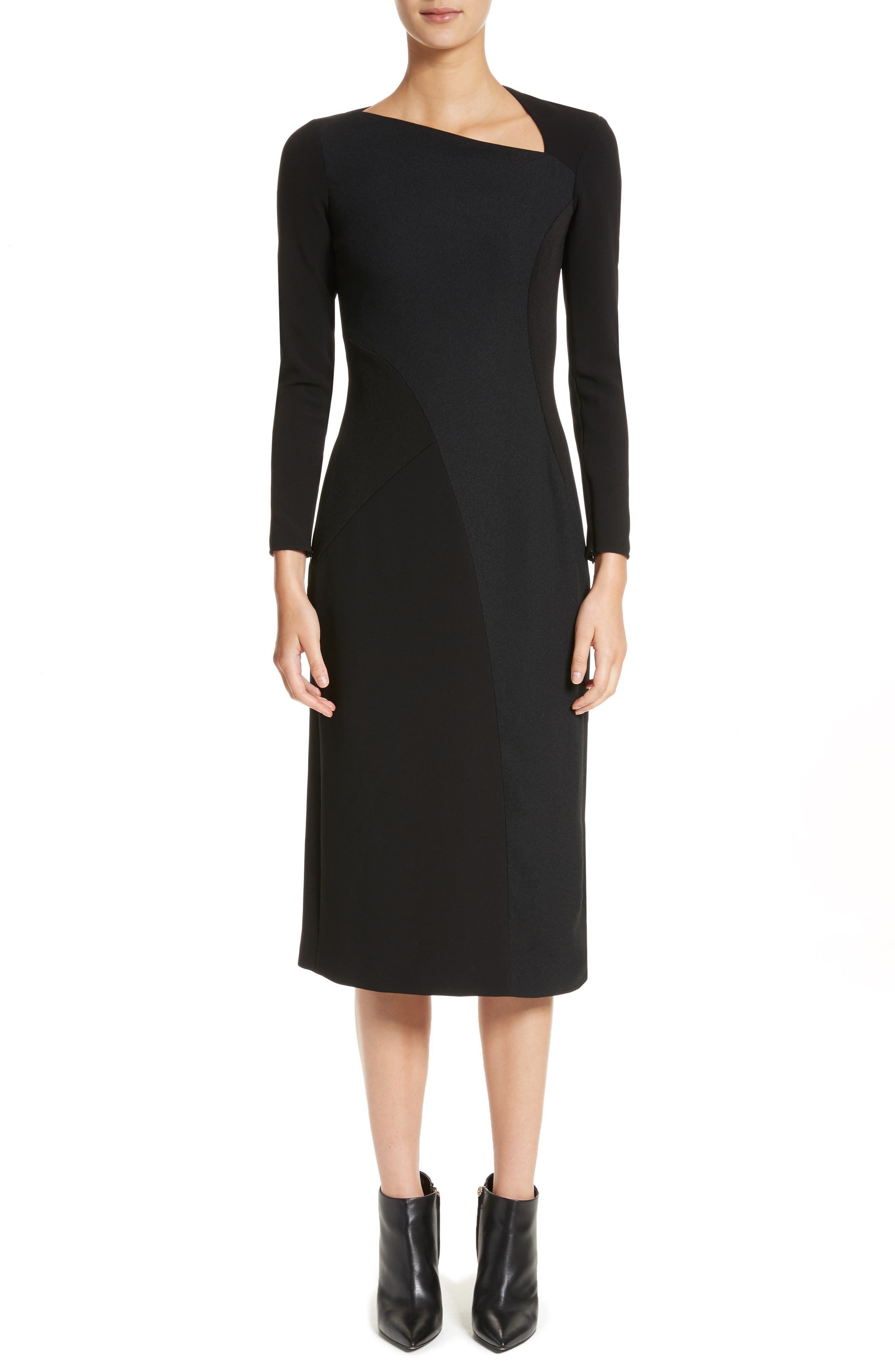 Burberry Fabiana Slash Neck Panel Dress