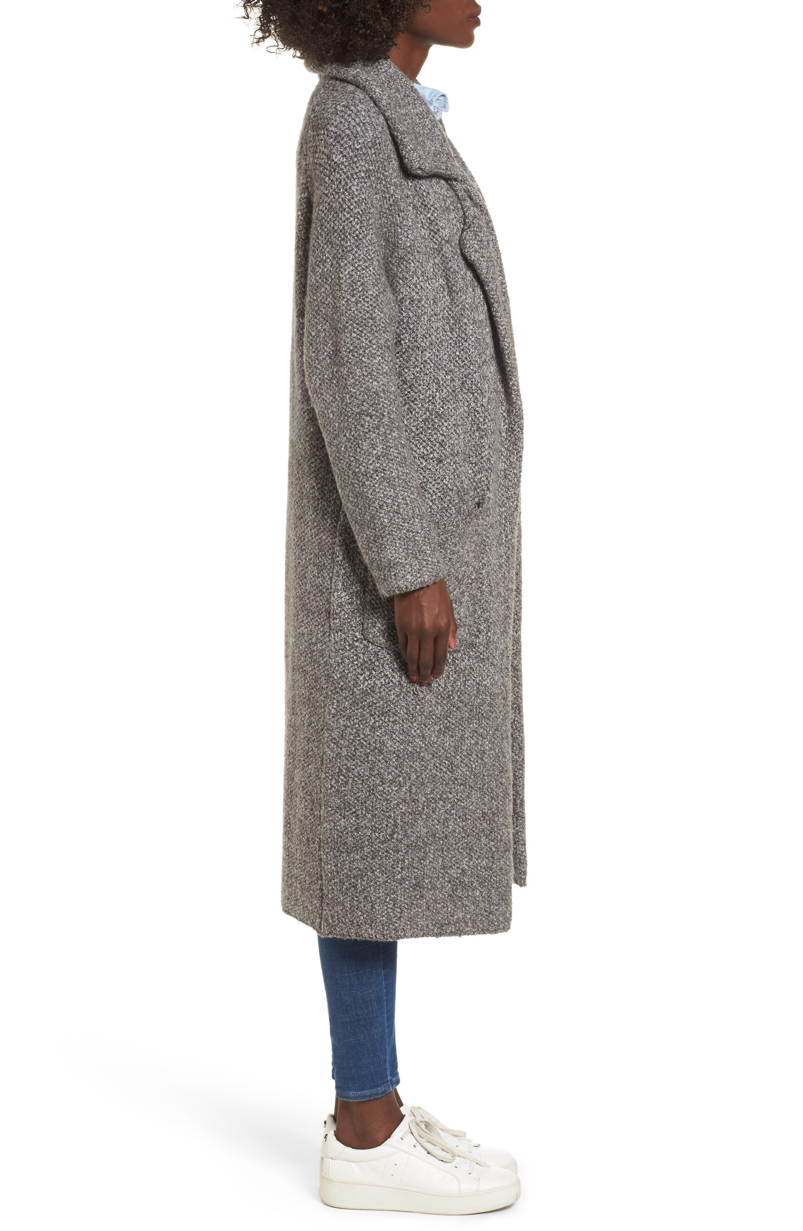 Kala Knit Sweater Jacket,                             Alternate thumbnail 3, color,                             Grey