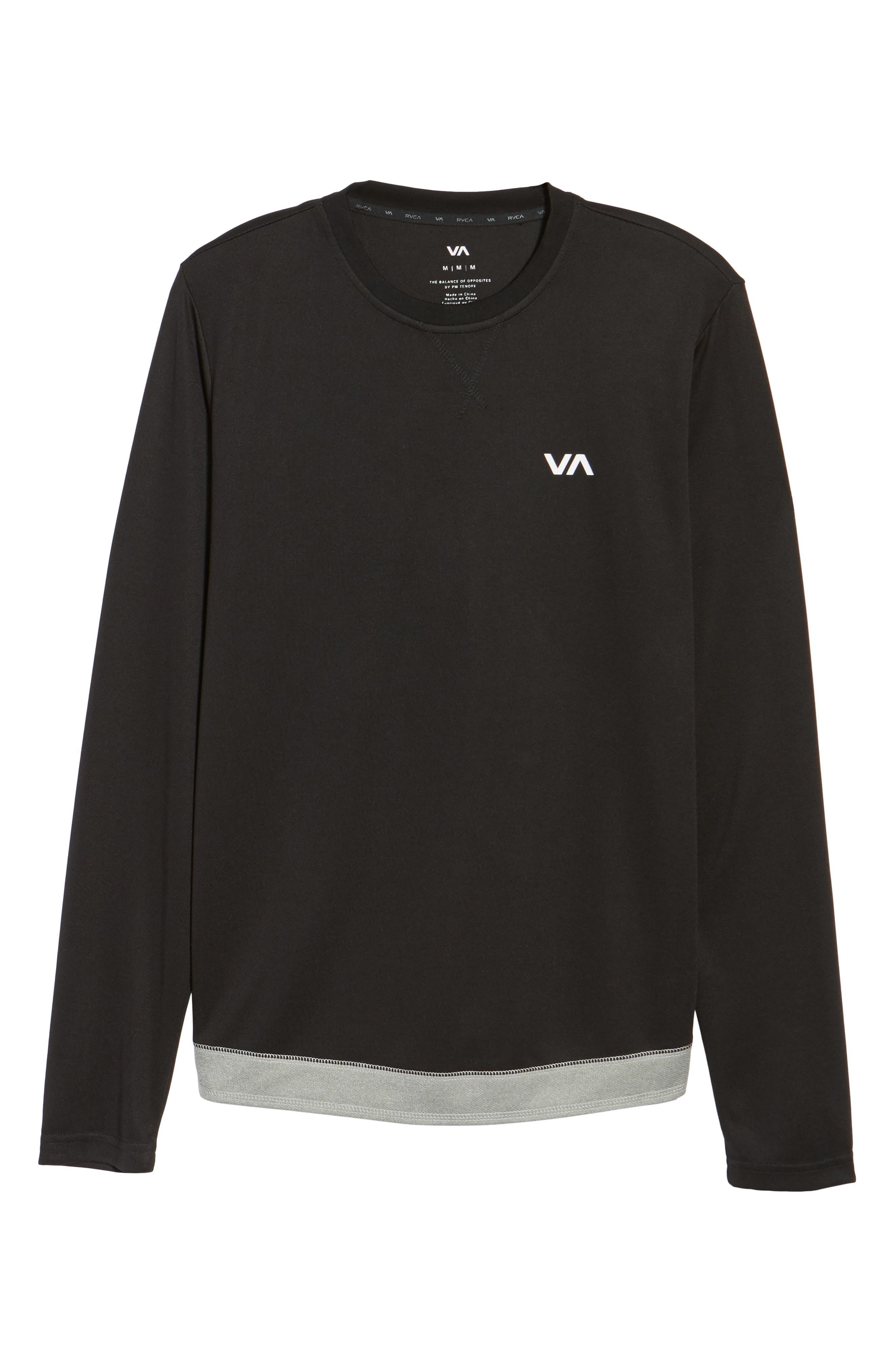Runner Mesh Long Sleeve T-Shirt,                             Alternate thumbnail 6, color,                             Black