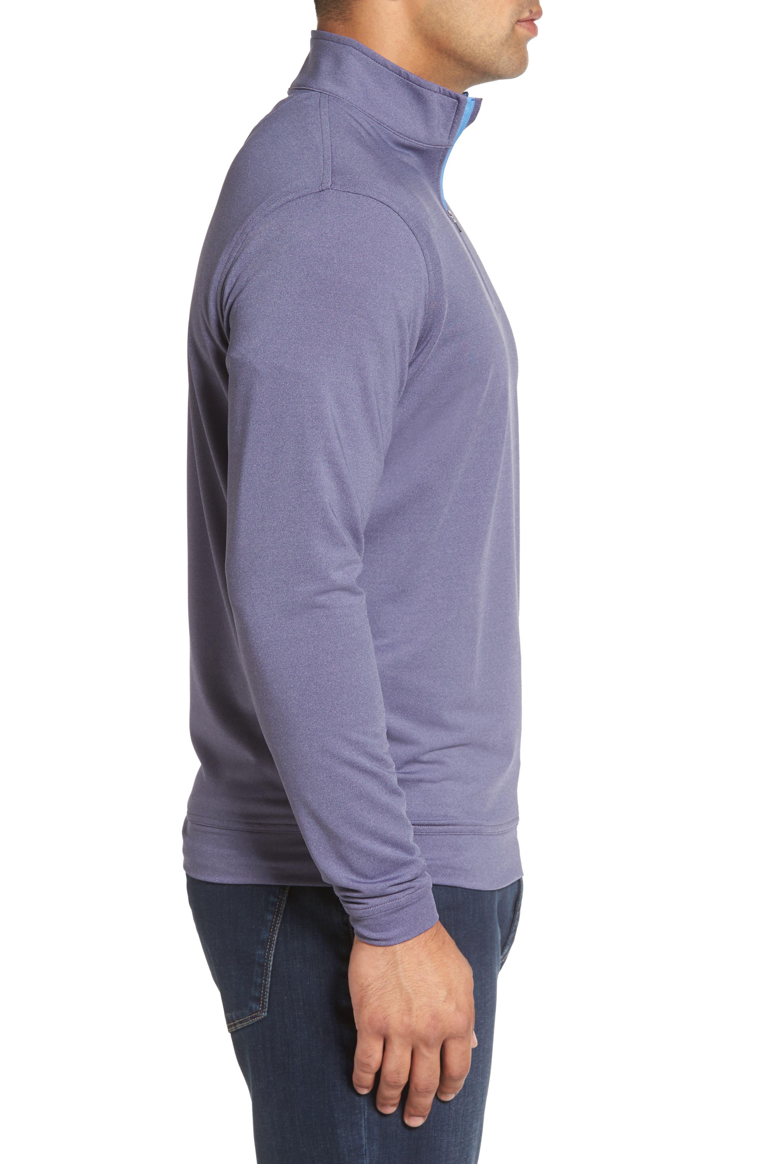 Perth Quarter Zip Stretch Pullover,                             Alternate thumbnail 3, color,                             Blackberry