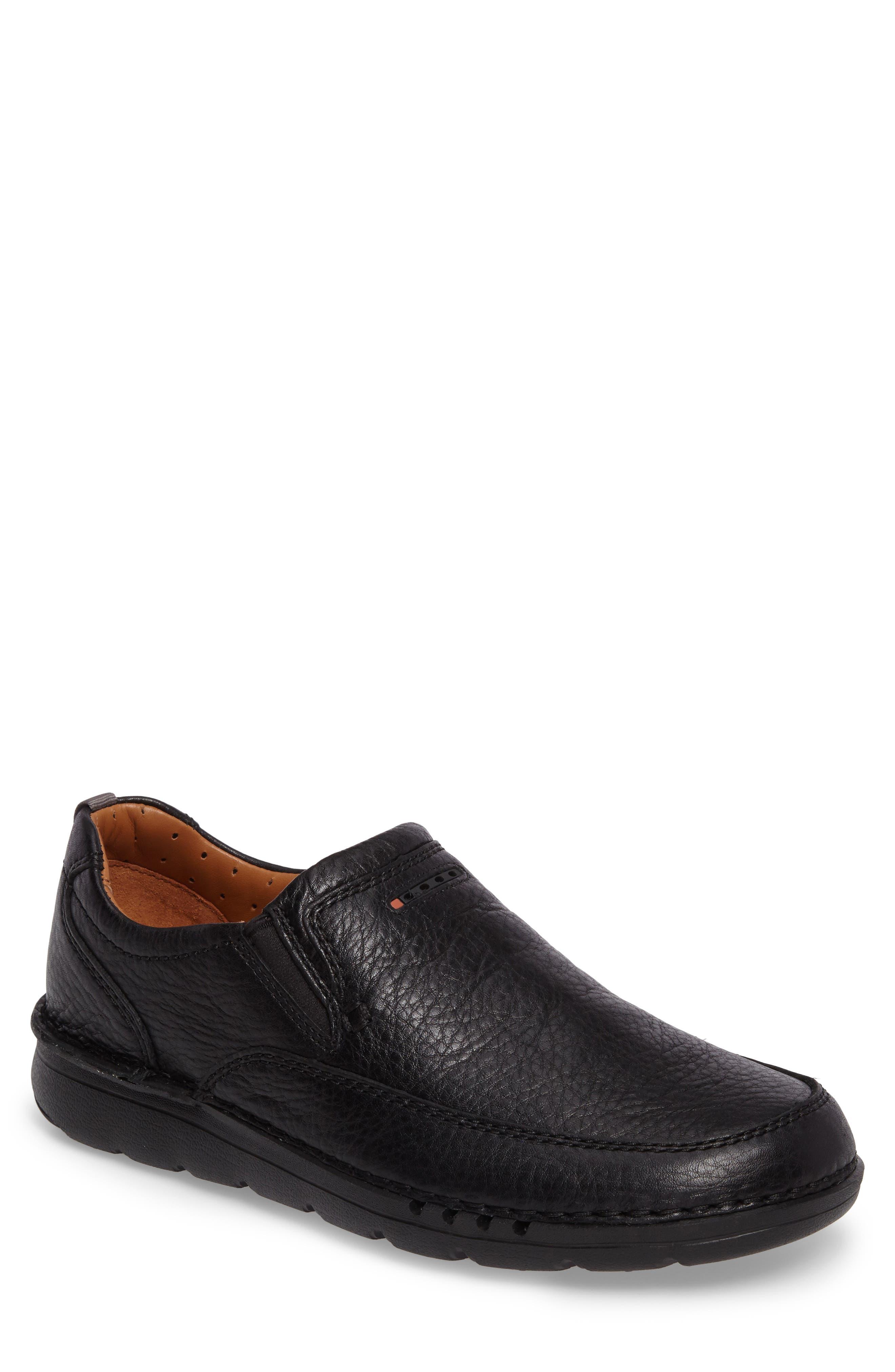 Unnature Easy Slip-On,                         Main,                         color, Black Leather