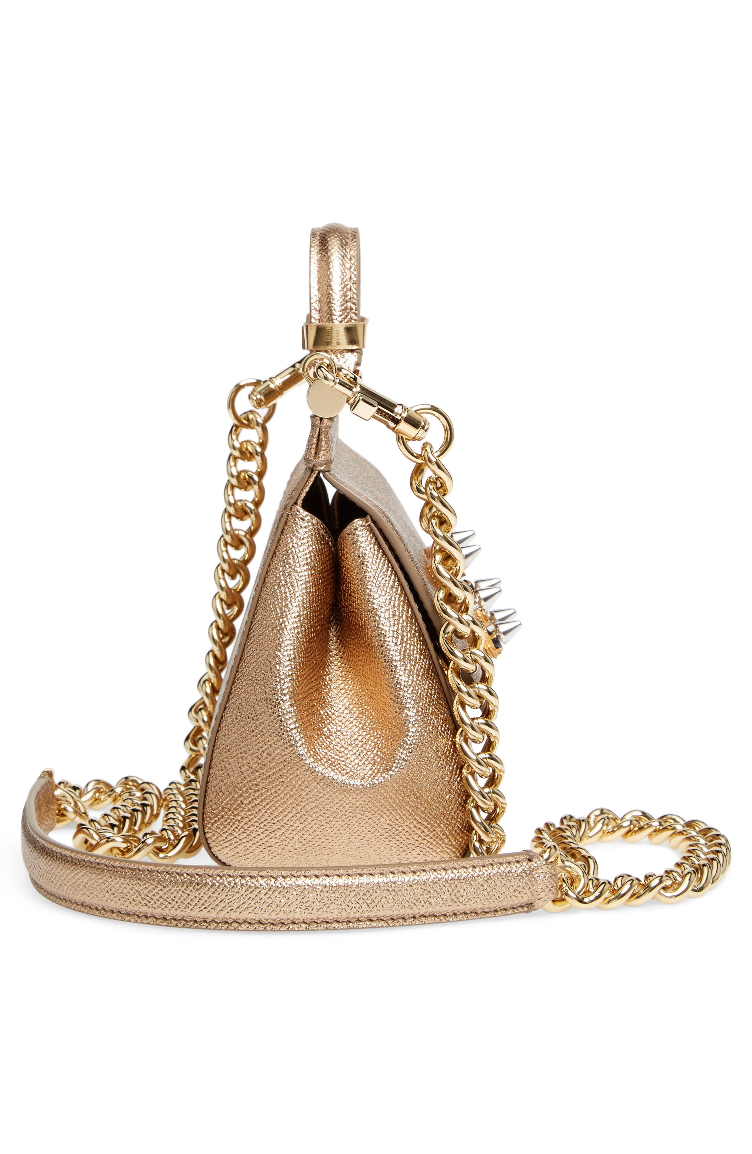 Alternate Image 3  - Dolce&Gabbana Mini Miss Sicily Millennials Dauphine Calfskin Satchel