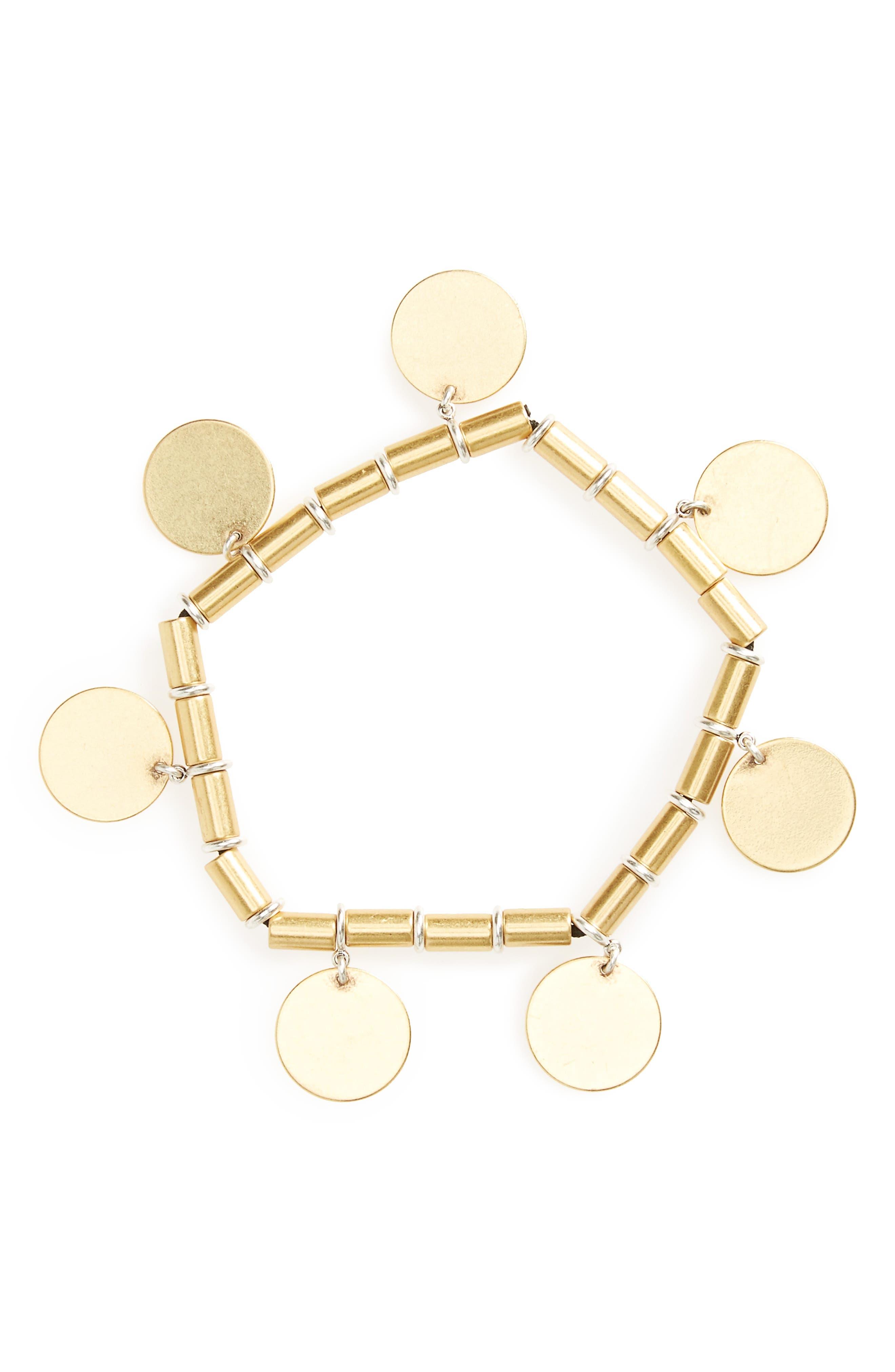 MADEWELL Beaded Disc Bracelet
