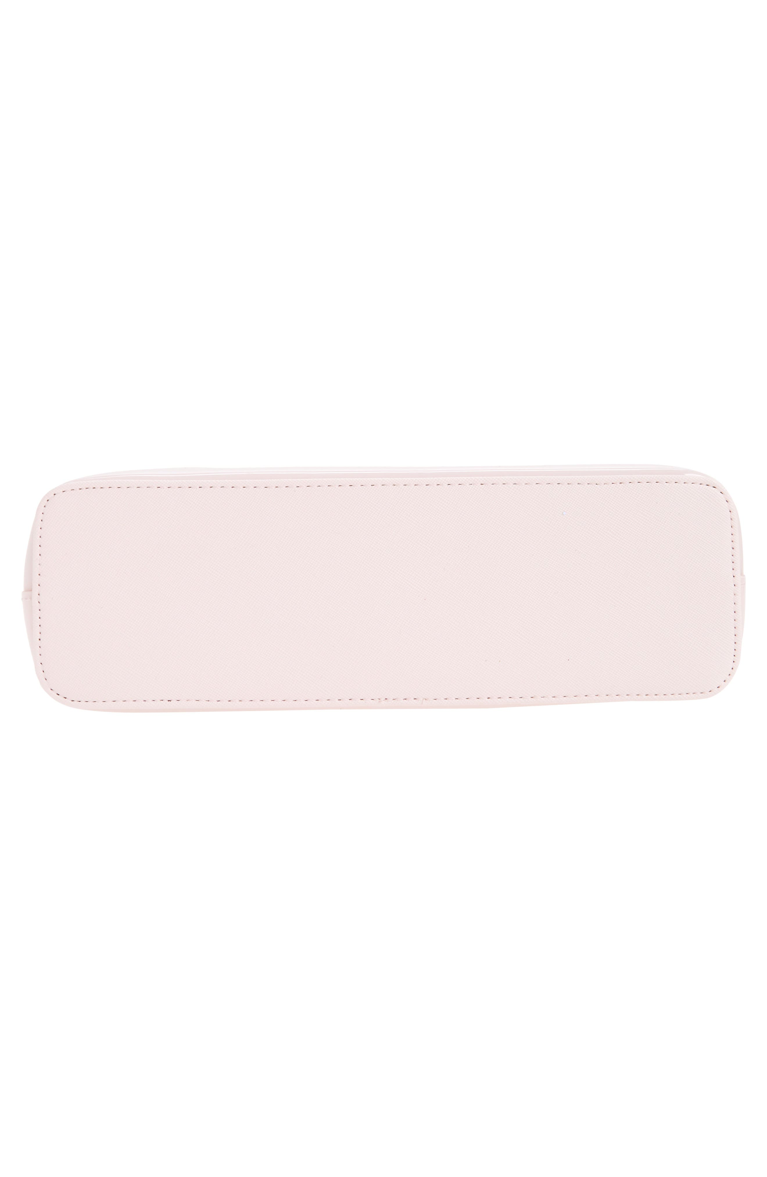 Jana Bow Cosmetic Case,                             Alternate thumbnail 5, color,                             Dusky Pink