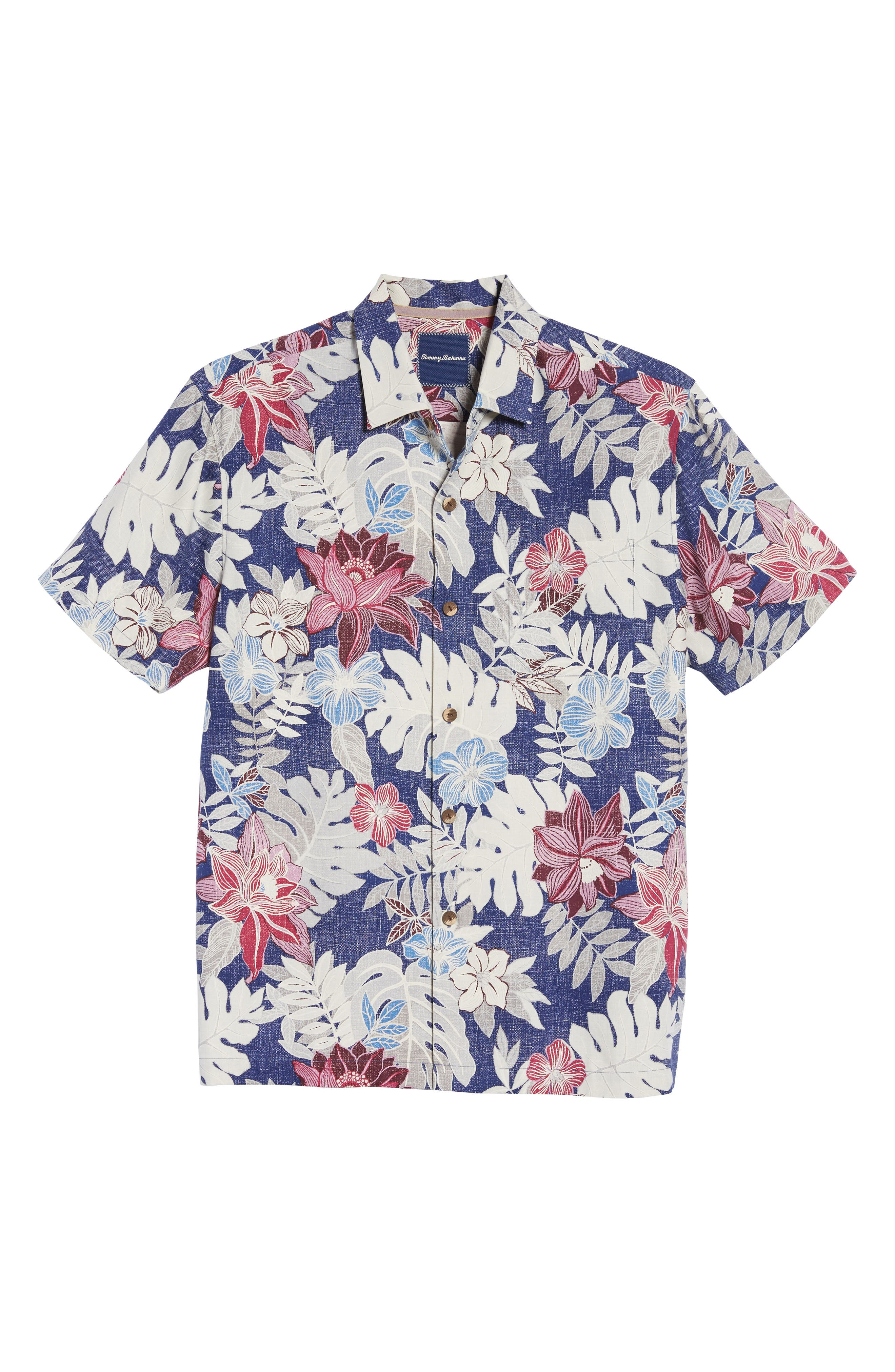 Alternate Image 6  - Tommy Bahama Desert Blooms Original Fit Print Silk Camp Shirt