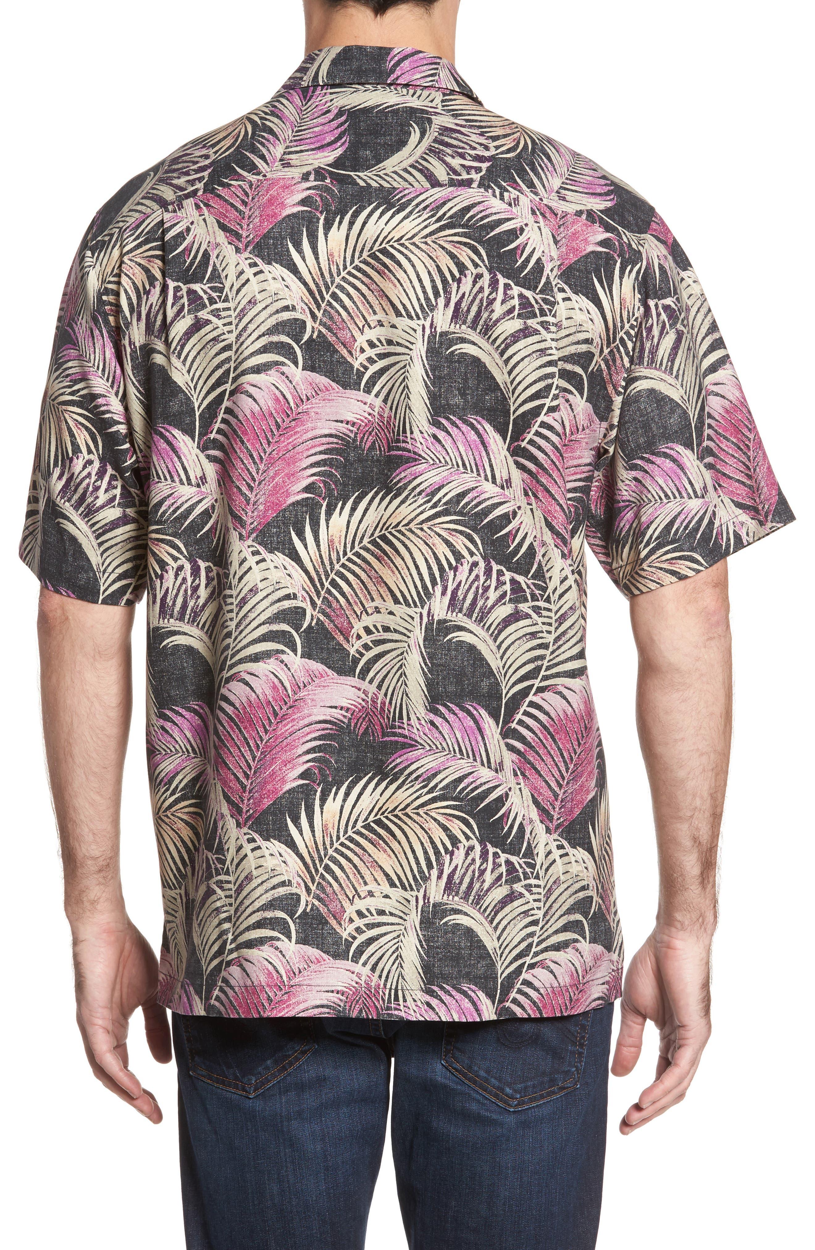 Alternate Image 2  - Tommy Bahama Fez Fronds Standard Fit Silk Camp Shirt