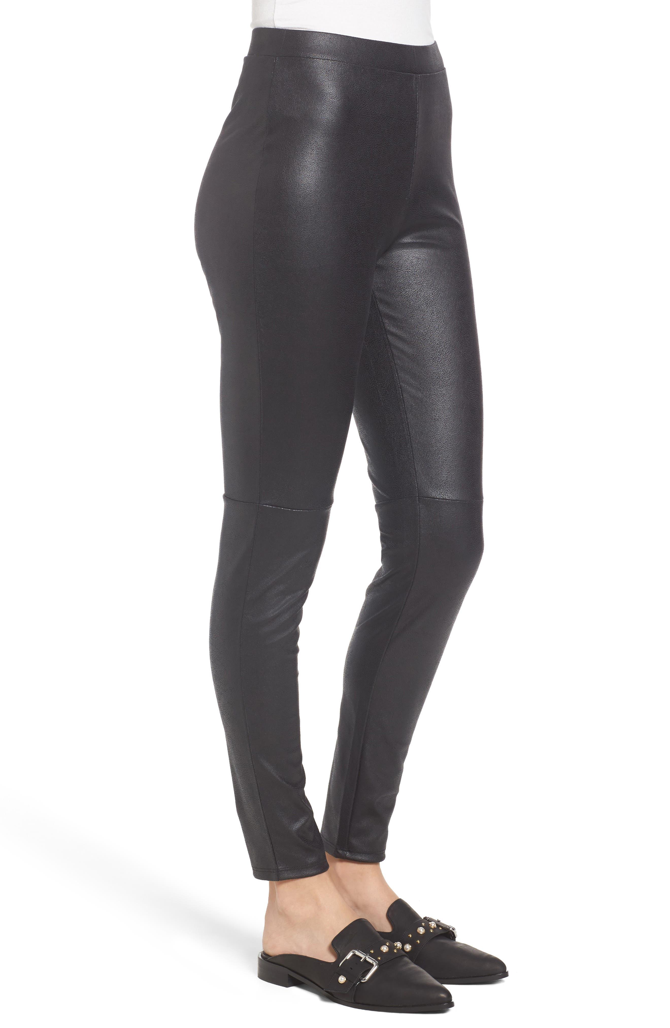 Alternate Image 2  - Trouvé High Waist Faux Leather Leggings