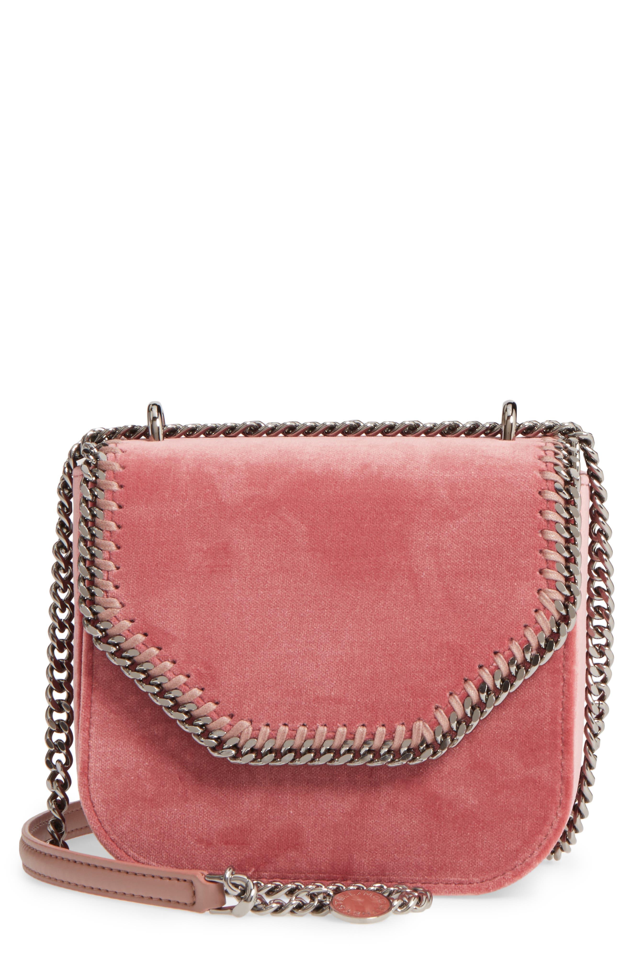 Main Image - Stella McCartney Mini Falabella Box Velvet Shoulder Bag